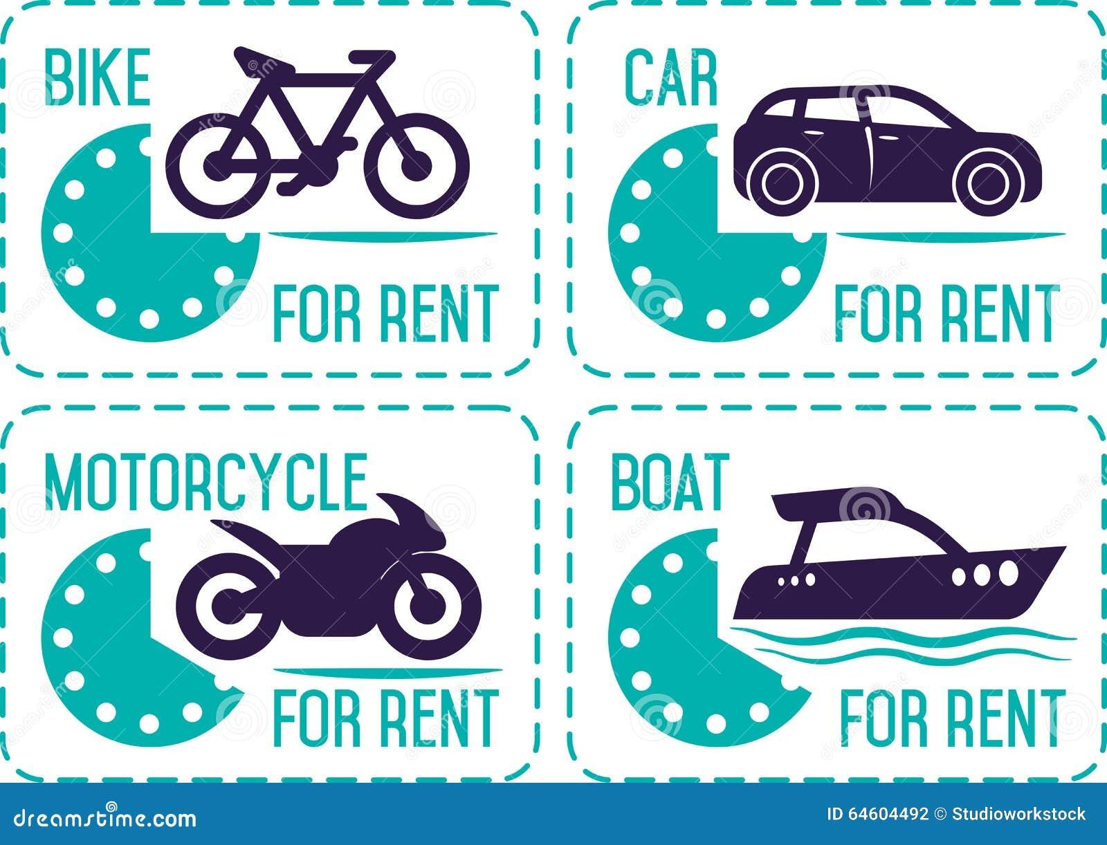 Αυτοκίνητο ενοικίου και άλλα εμβλήματα μεταφορών