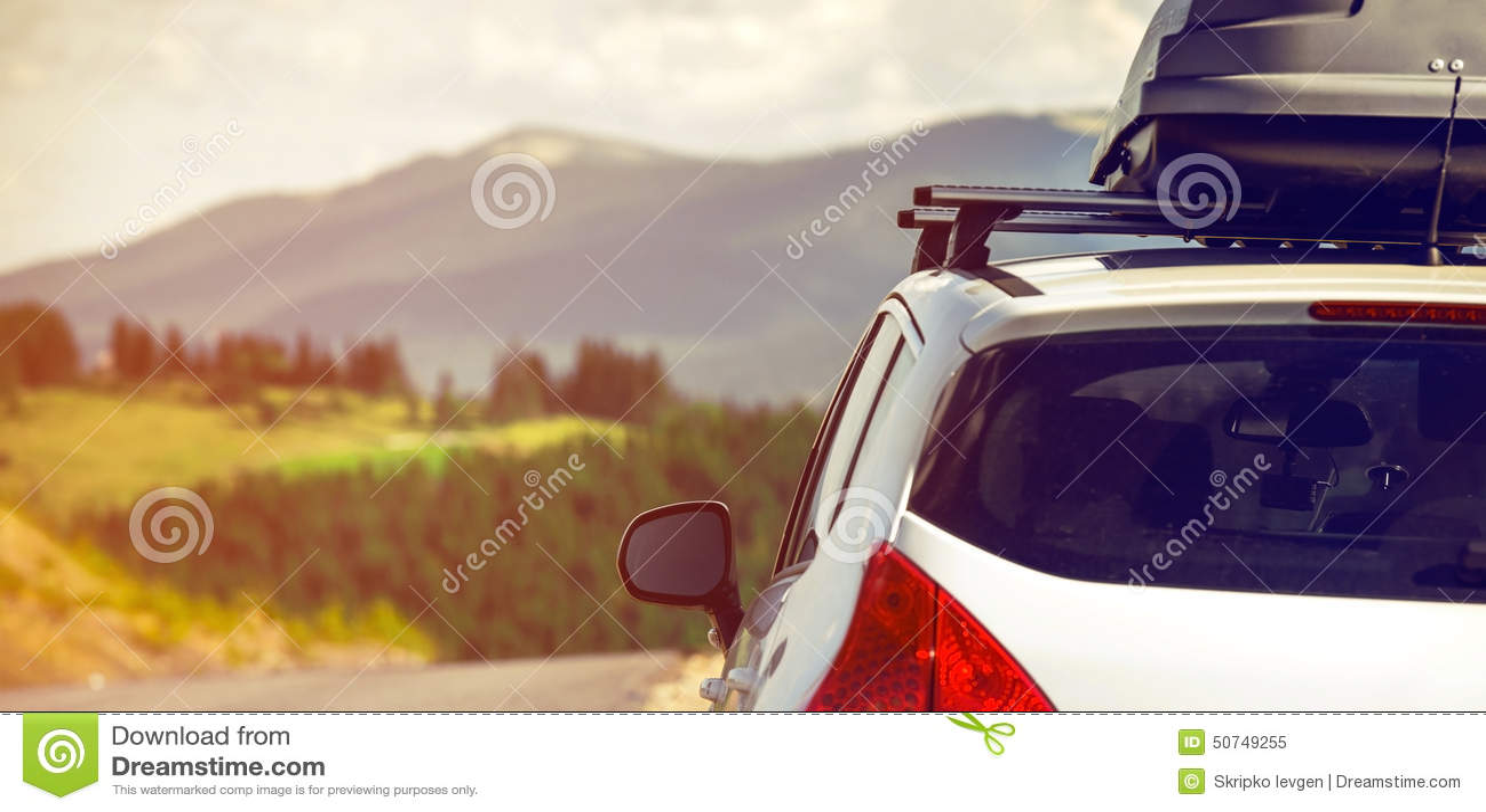 Αυτοκίνητο με ένα ράφι στεγών
