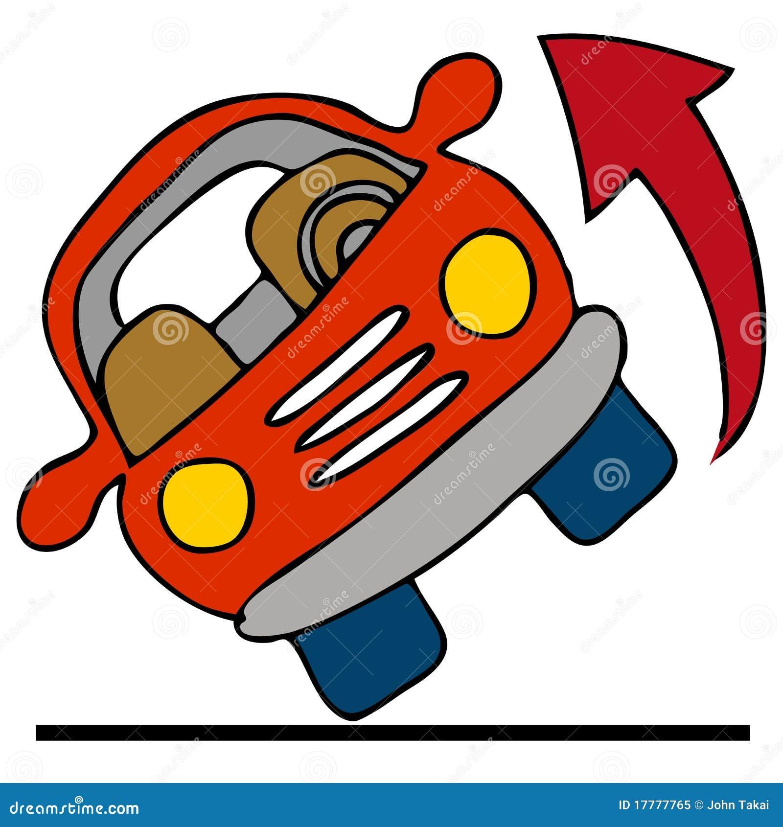 αυτοκίνητο πέρα από το κύλι