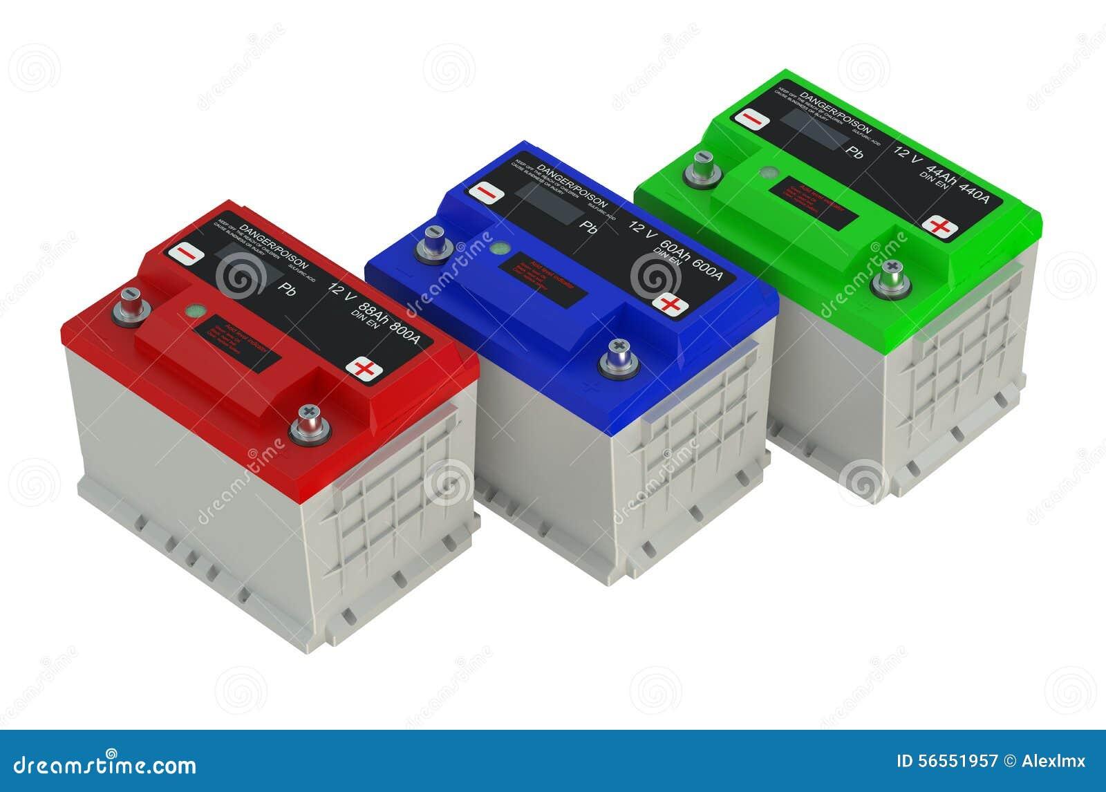 Download Αυτοκίνητο τριών χρωματισμένο μπαταριών Απεικόνιση αποθεμάτων - εικονογραφία από μπαταριών, μέρος: 56551957