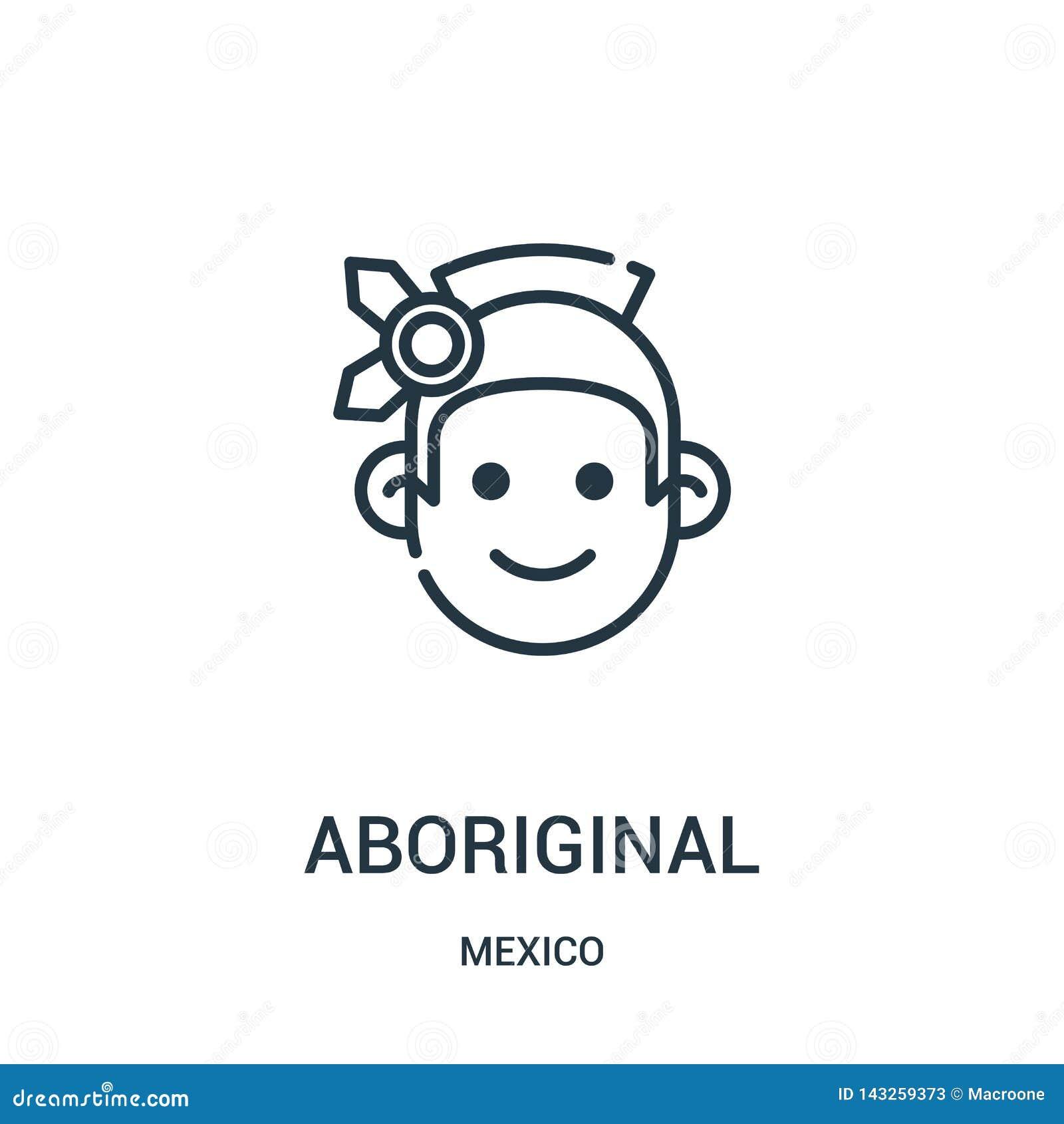 αυτοώμον διάνυσμα εικονιδίων από τη συλλογή του Μεξικού Λεπτή διανυσματική απεικόνιση εικονιδίων περιλήψεων γραμμών αυτόχθων
