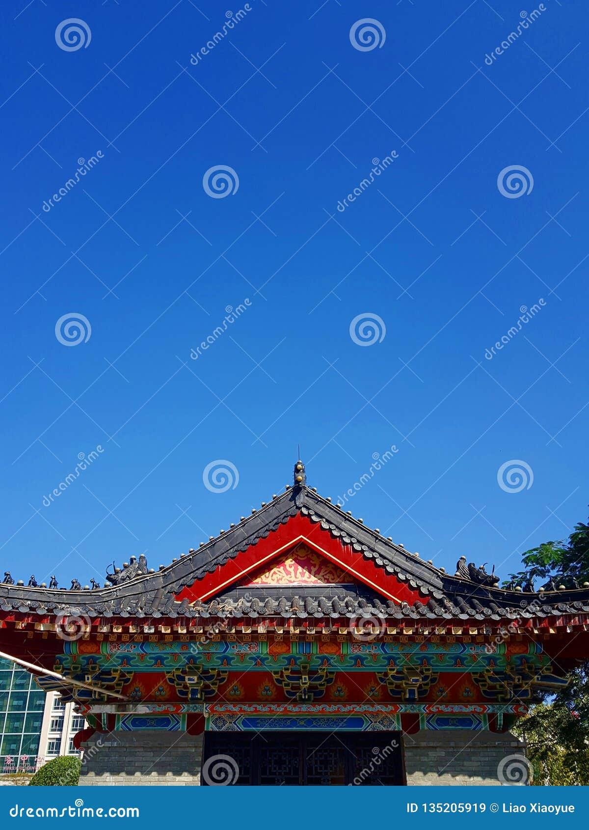 Αυτό είναι το τοπίο της αρχαίας οδού οικοδόμησης σε Huizhou, Κίνα