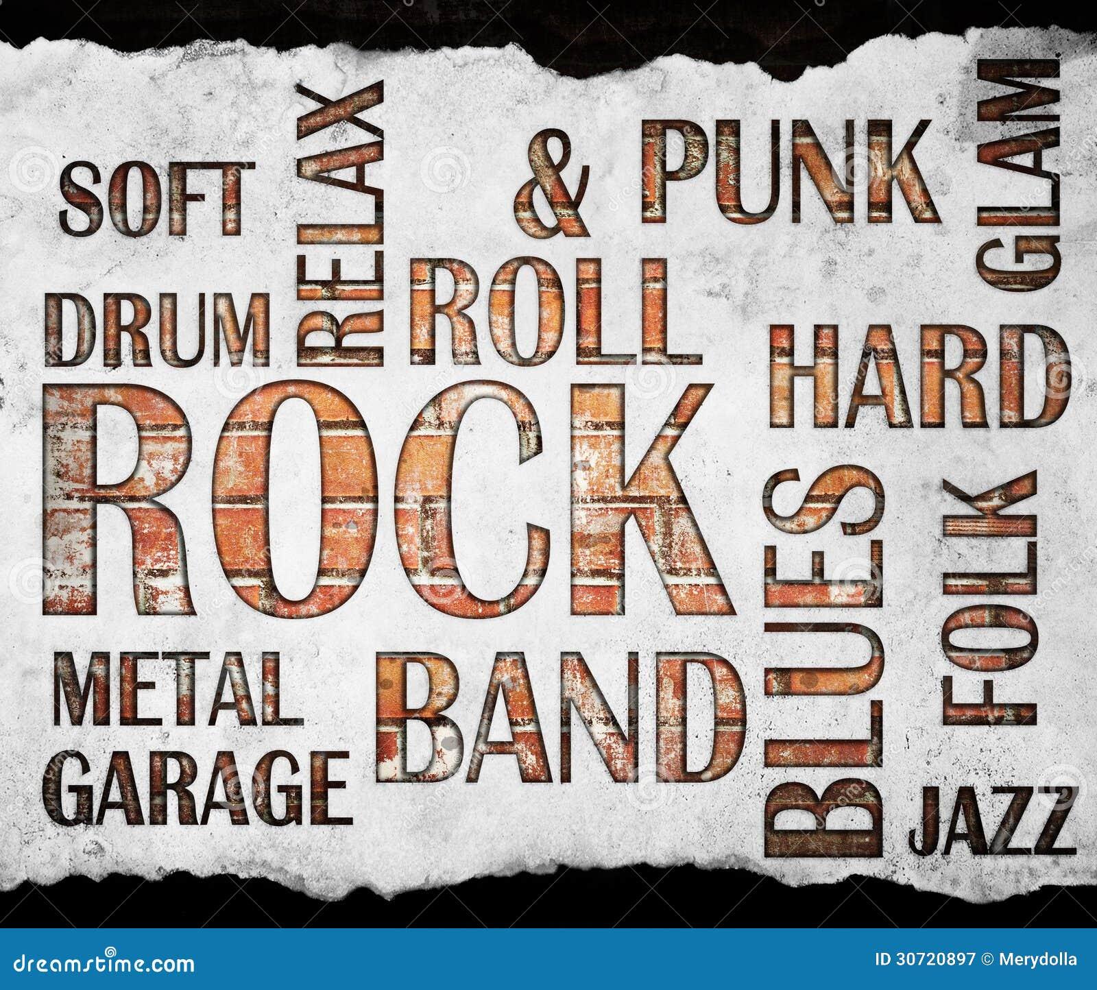 Αφίσα μουσικής ροκ Grunge
