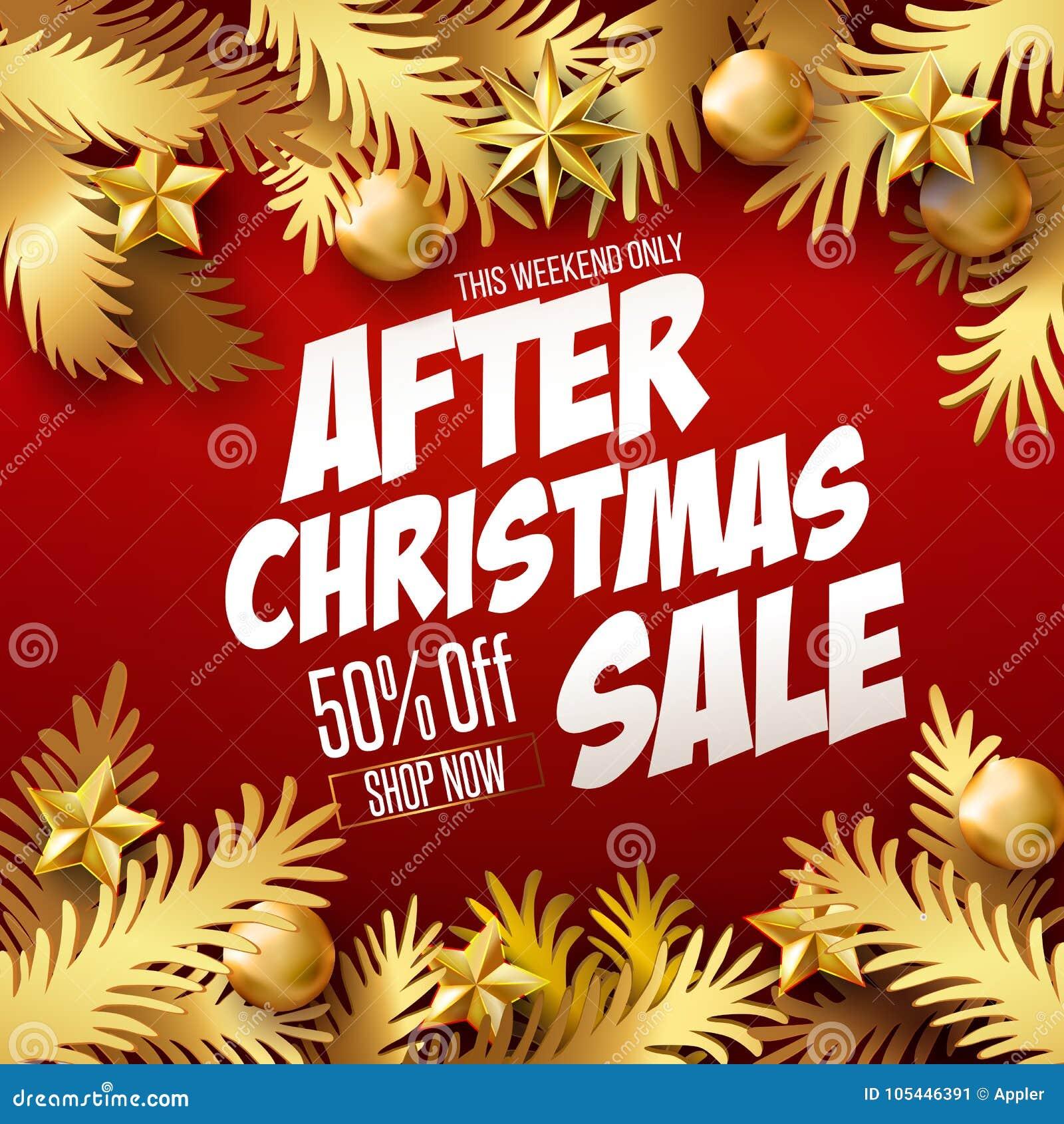 Αφίσα πώλησης Χριστουγέννων