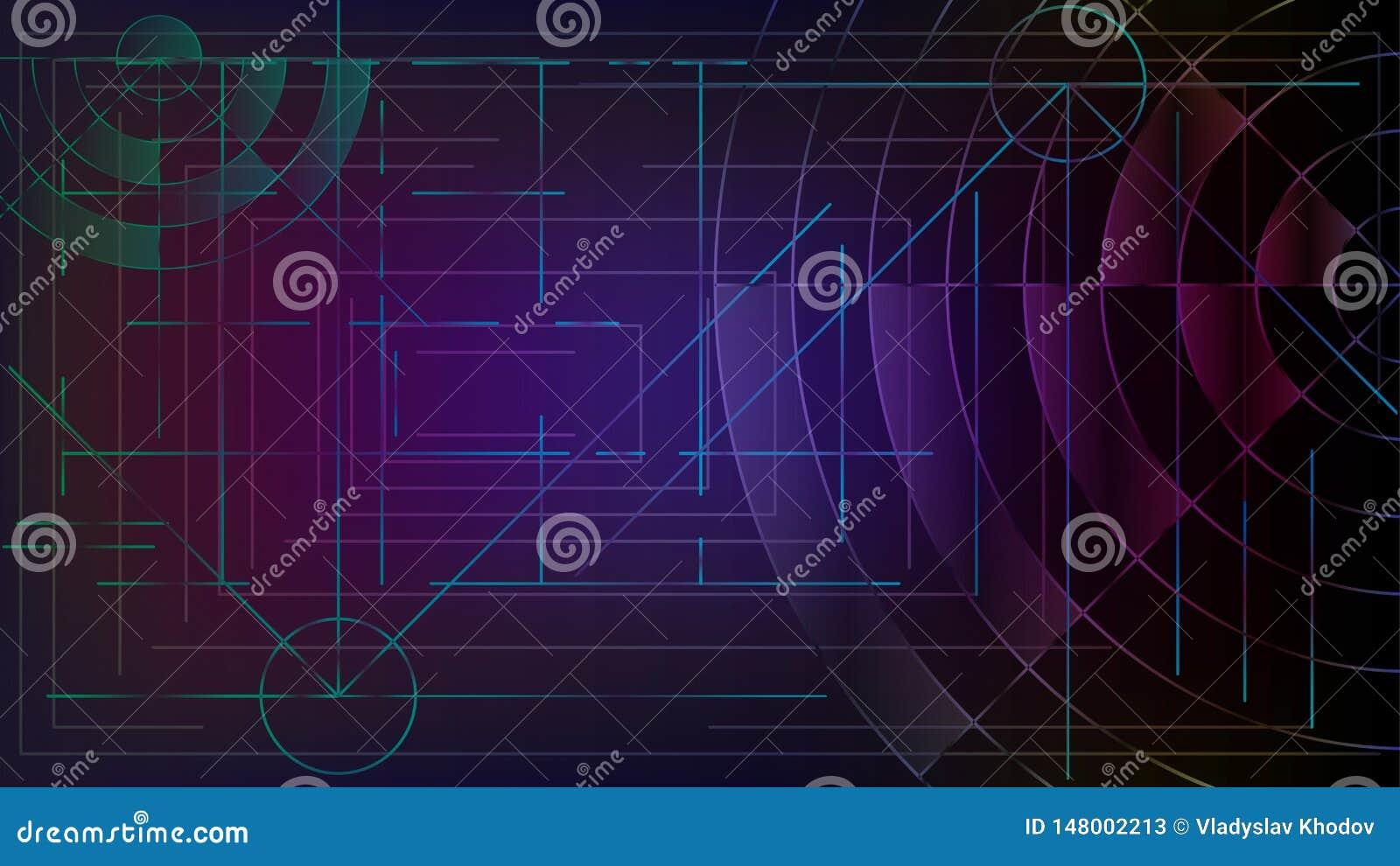 Αφαίρεση Τεμνόμενα γραμμές και κύματα Χάραξη ενός συγκροτήματος ηλεκτρονικών υπολογιστών