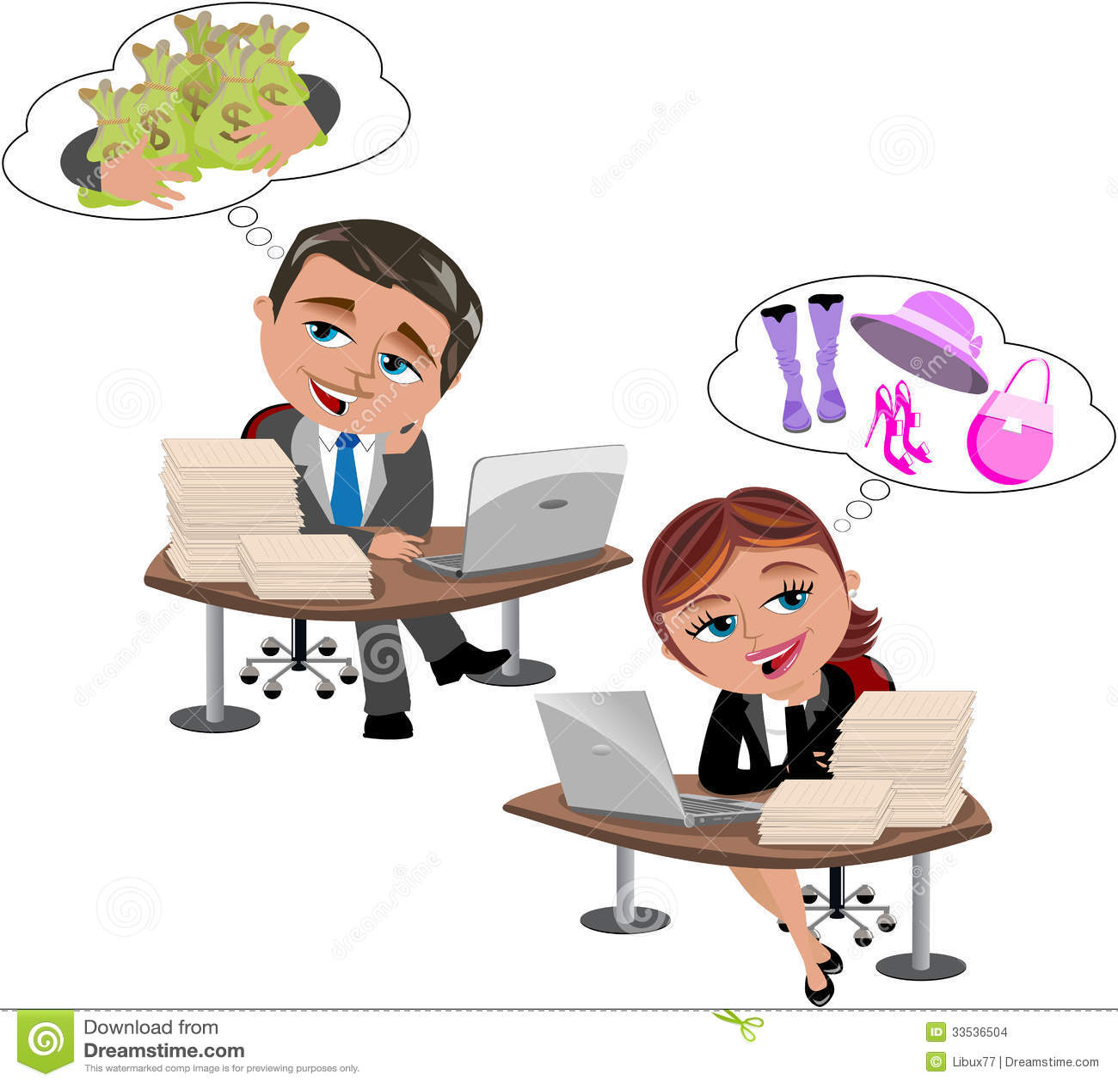Αφηρημάδα στο γραφείο γραφείων