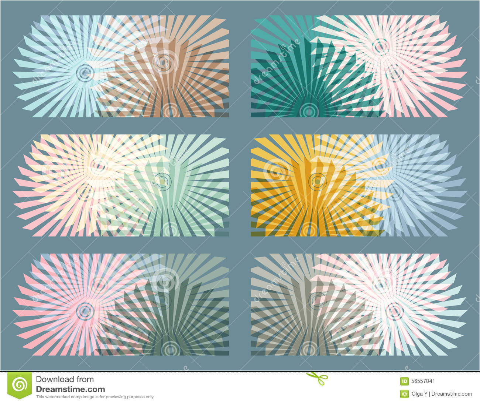 Download 6 αφηρημένα στοιχεία γεωμετρίας Υπνωτικά υπόβαθρα Διανυσματική απεικόνιση - εικονογραφία από χρώμα, σχέδιο: 56557841