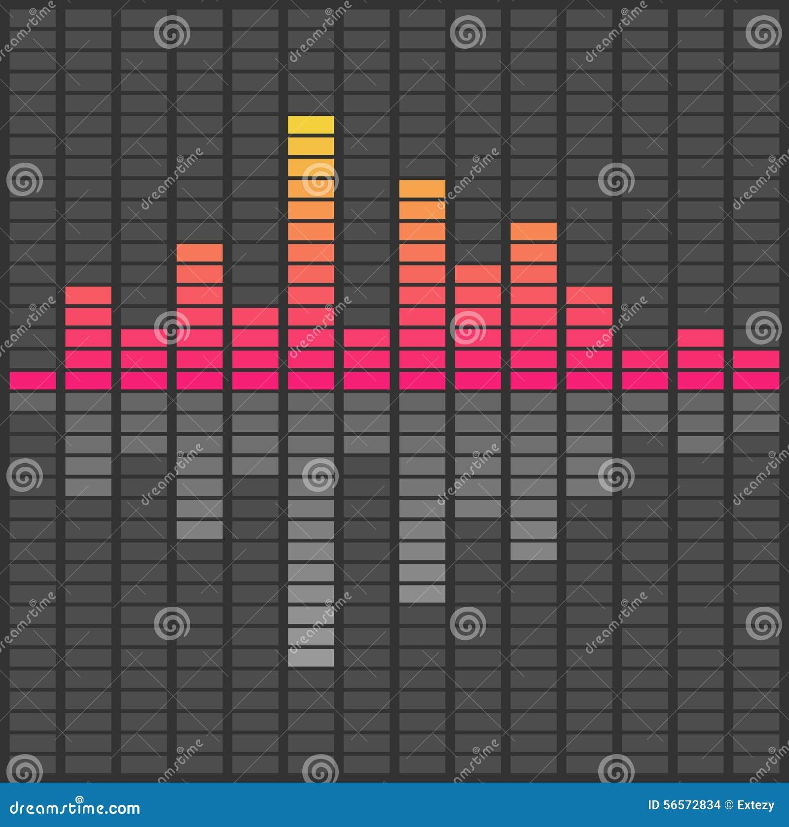 Download αφηρημένα υγιή κύματα εξισωτών Ακουστική μουσική σφυγμού Διανυσματική απεικόνιση - εικονογραφία από μαύρα, επίπεδο: 56572834