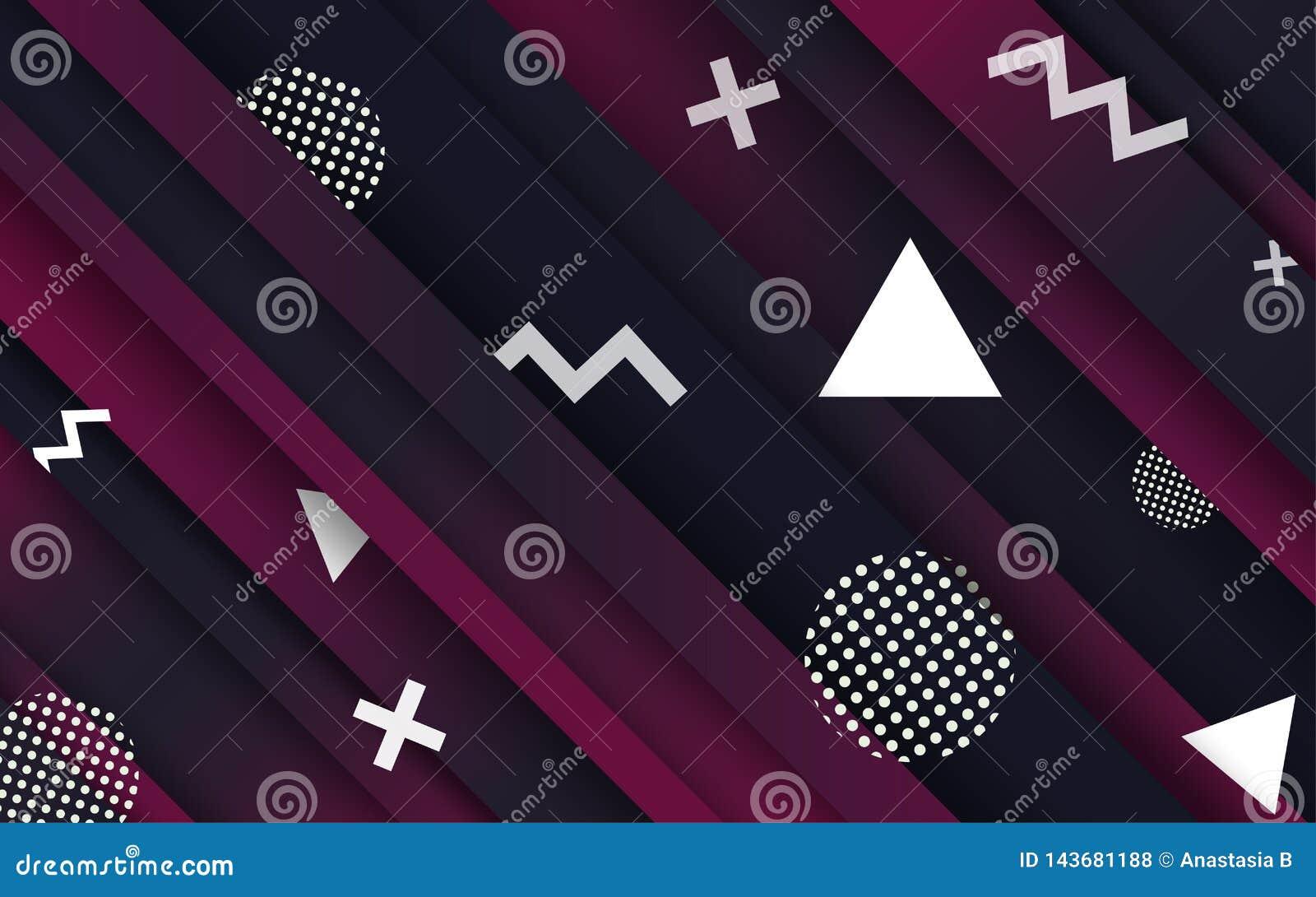 Αφηρημένα υπόβαθρα Δημιουργική αφηρημένη γεωμετρική ταπετσαρία Χρώματα αντίθεσης Διανυσματικό σχεδιάγραμμα σχεδίου για τις παρουσ