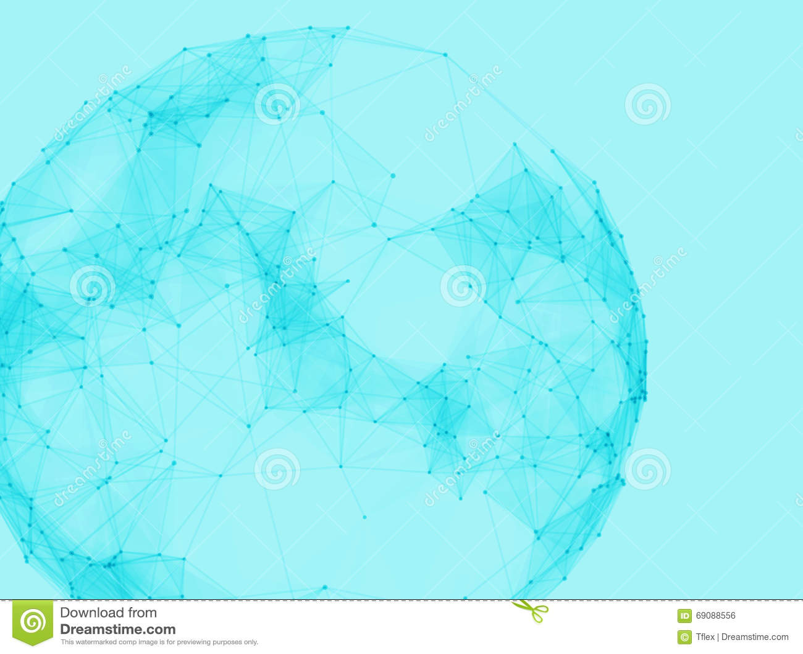 Αφηρημένες polygonal σφαίρες Φουτουριστικό χαμηλό πολυ ύφος τεχνολογίας Κομψό υπόβαθρο σημείων για τις επιχειρησιακές παρουσιάσει