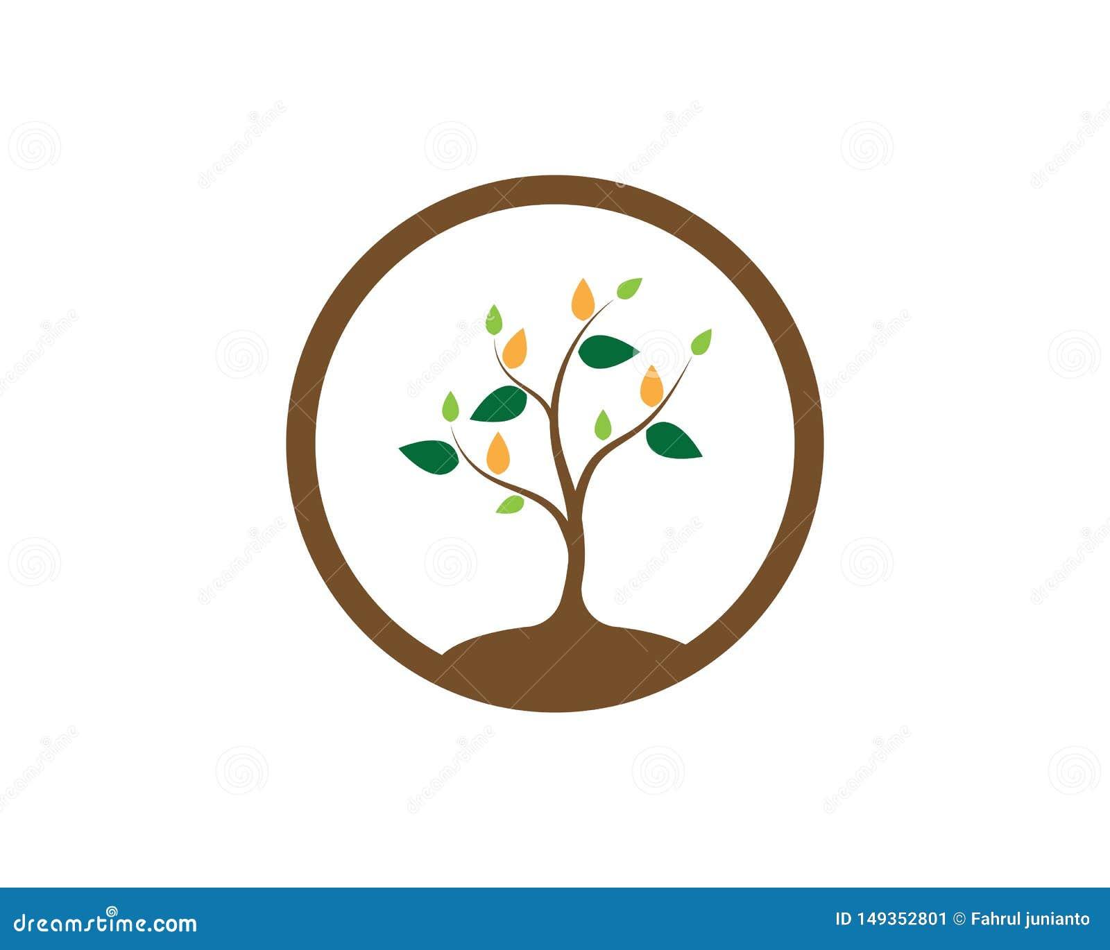 Αφηρημένη διανυσματική απεικόνιση σχεδίου λογότυπων δέντρων