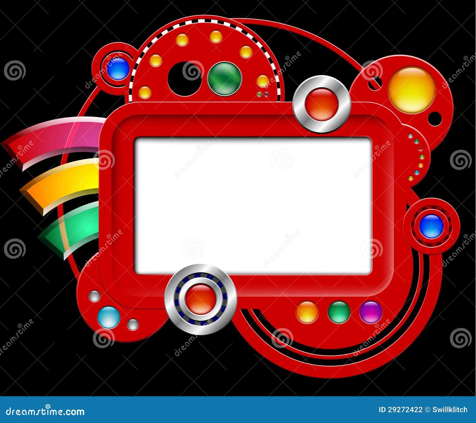 Αφηρημένη διαπροσωπεία με την οθόνη και τα κουμπιά