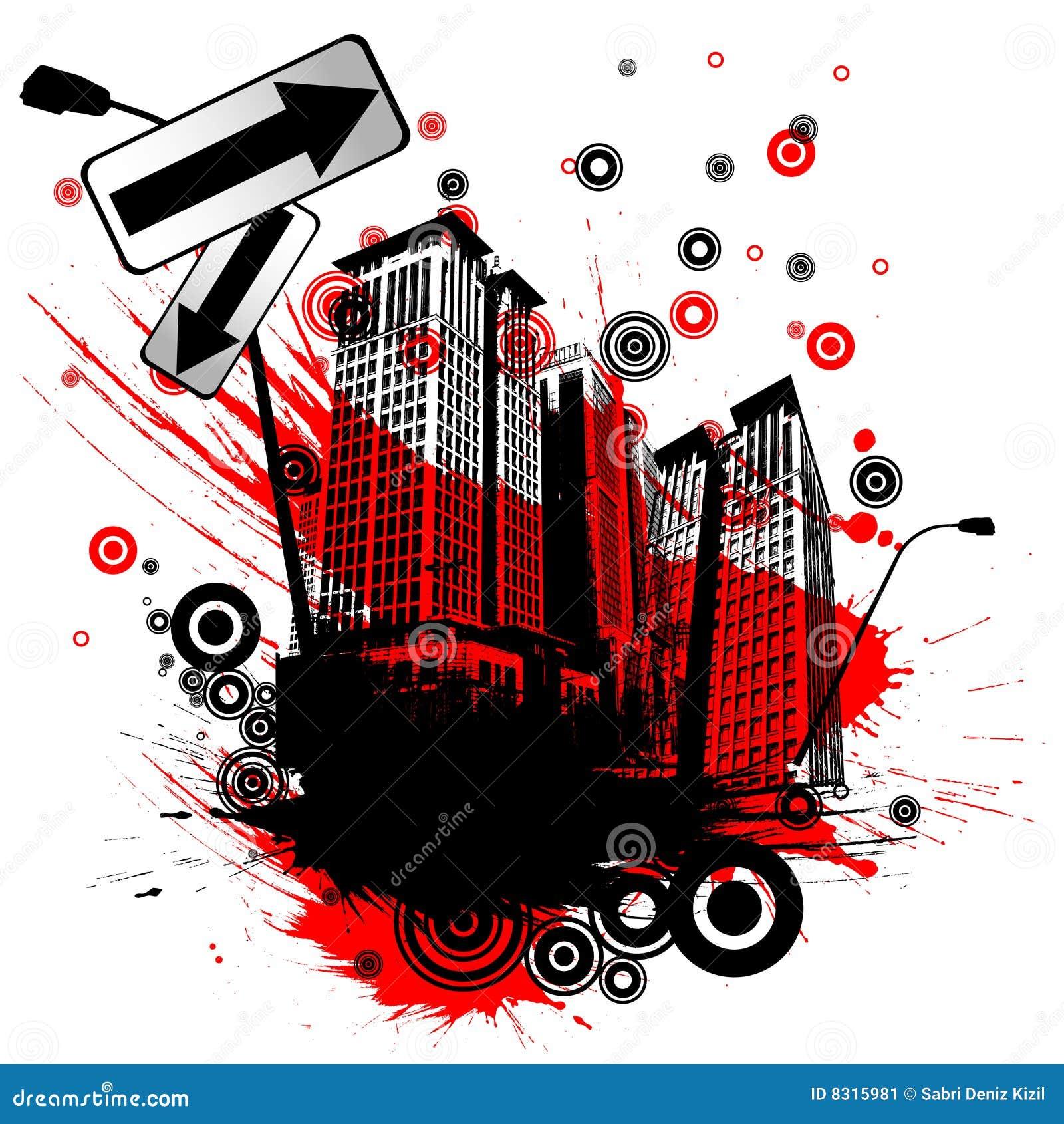 αφηρημένη πόλη αστική