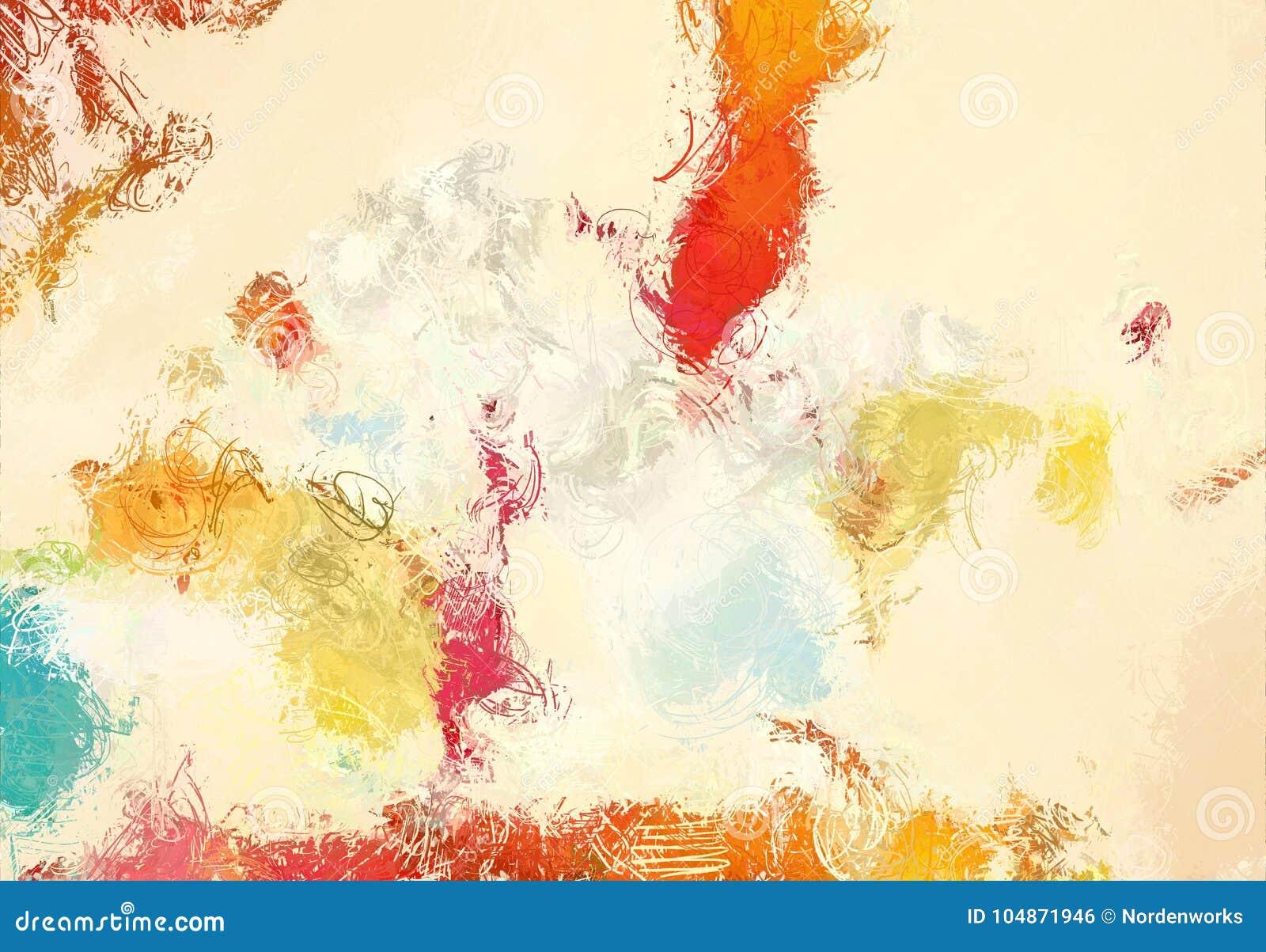 Αφηρημένη σύσταση σκίτσων τέχνης Ζωηρόχρωμες γραμμές που σύρονται ψηφιακά ζωηρόχρωμη σύσταση σύγχρονο έργο τέχνης αφηρημένο ανασκ