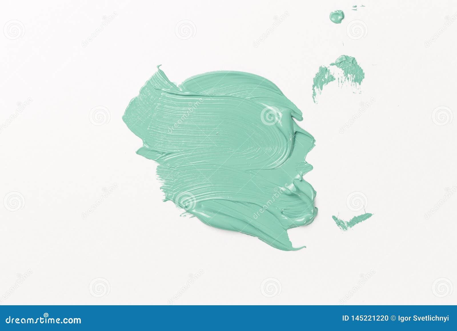 Αφηρημένη σύσταση του χρώματος μεντών σε χαρτί