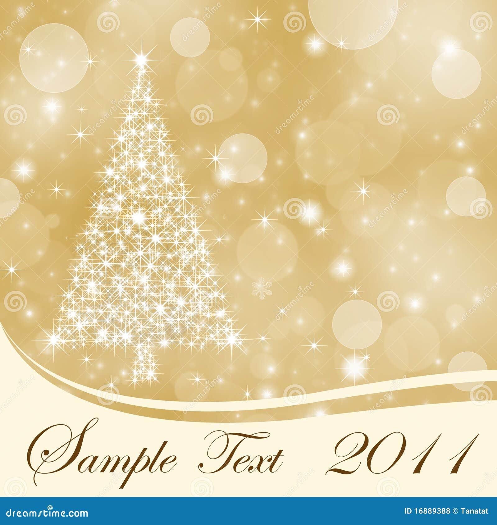 Αφηρημένη χρυσή ανασκόπηση Χριστουγέννων με το διάστημα αντιγράφων