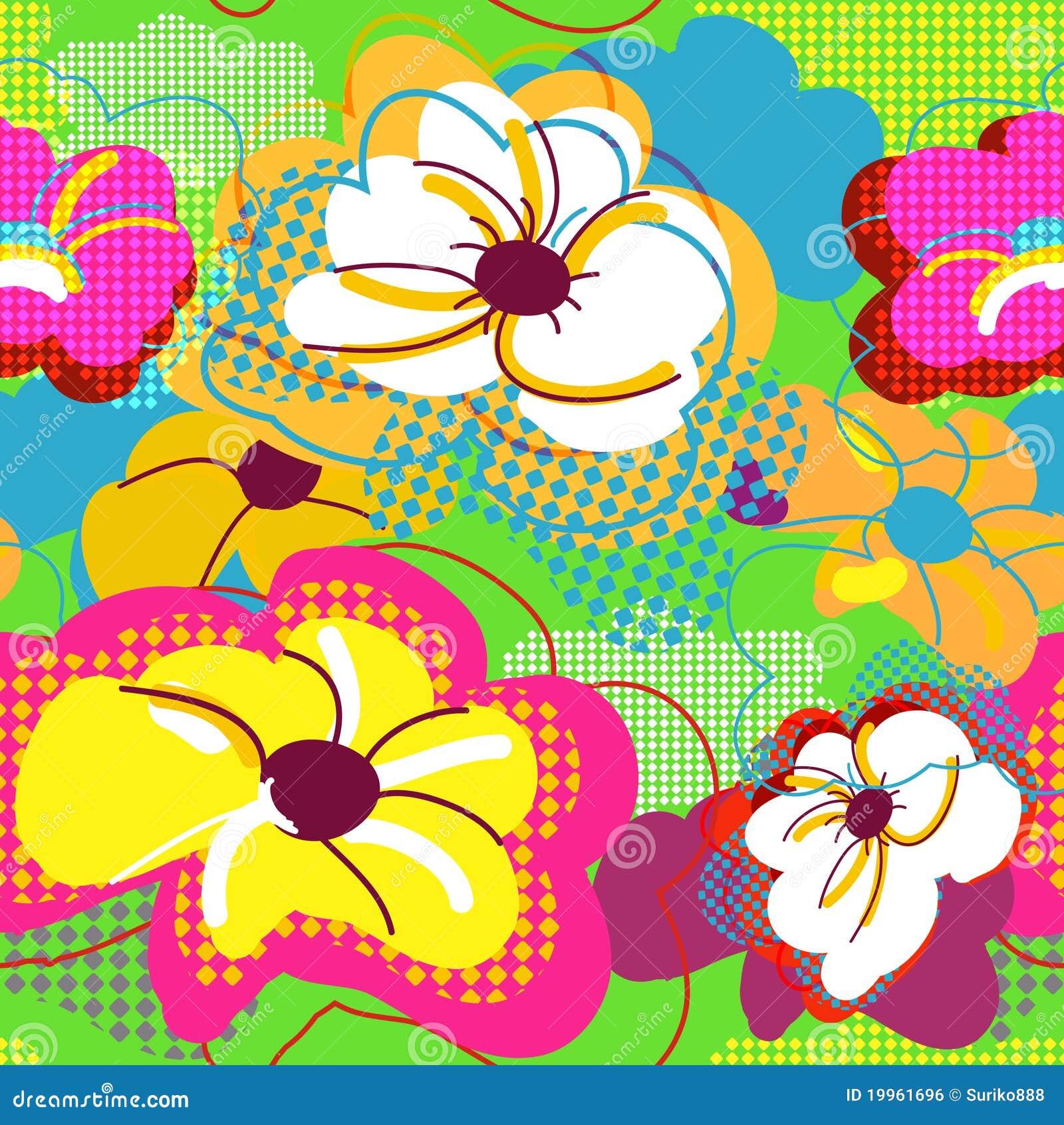 αφηρημένη floral άνευ ραφής σύστα&si