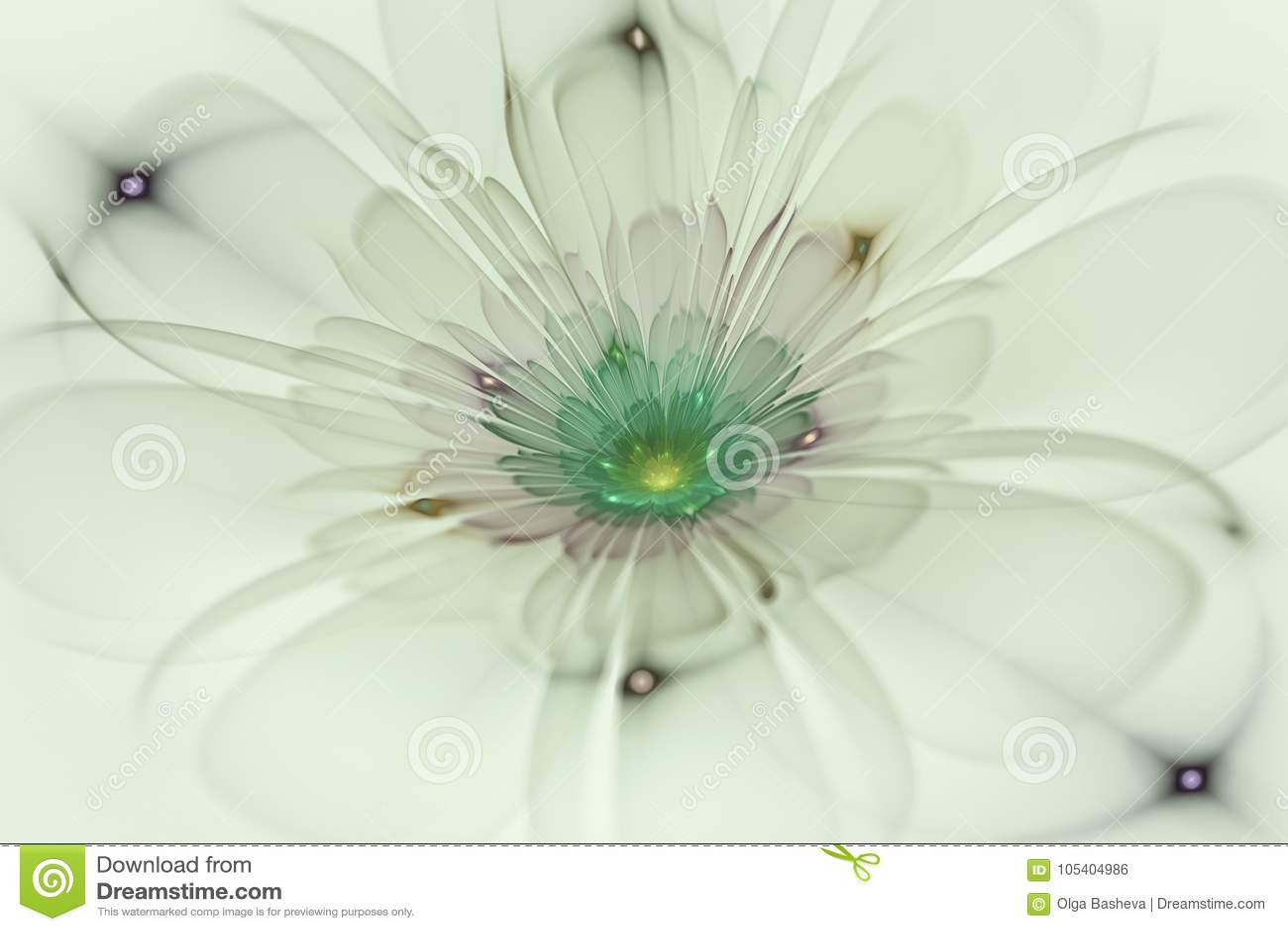 Download Αφηρημένη Fractal παραγμένη υπολογιστής εικόνα λουλουδιών Απεικόνιση αποθεμάτων - εικονογραφία από μορφή, ενέργεια: 105404986
