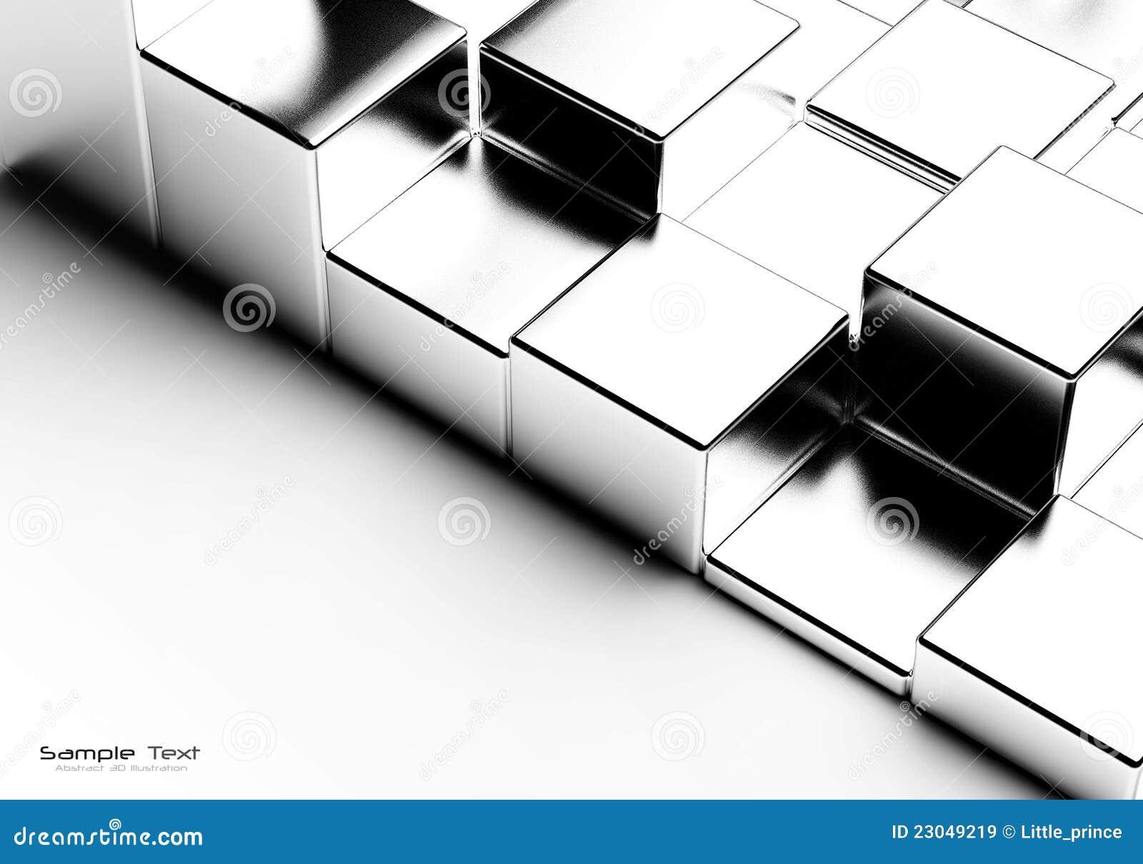 αφηρημένοι κύβοι χρωμίου ανασκόπησης