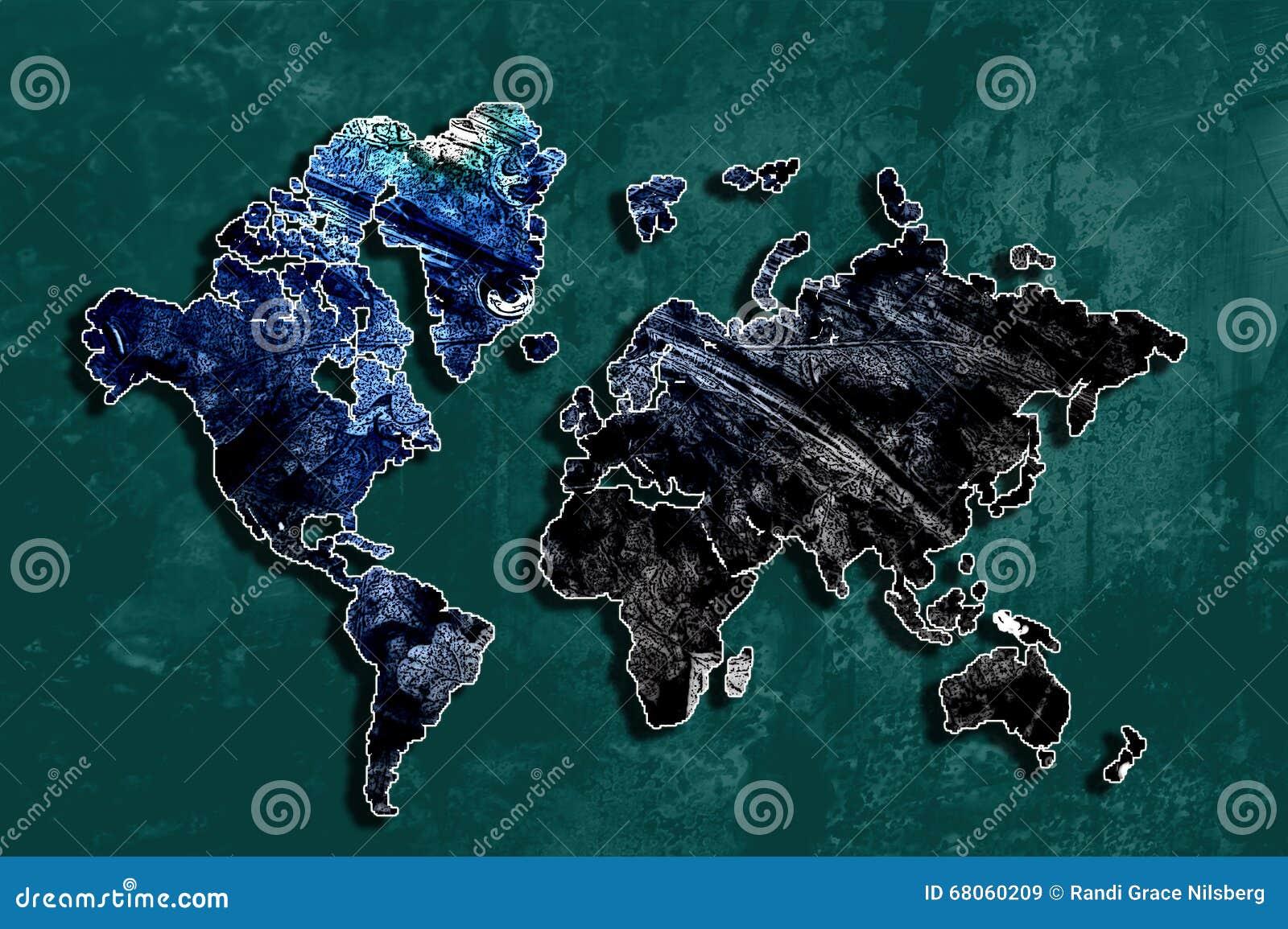 Αφηρημένος κόσμος - παγκόσμιος χάρτης 2