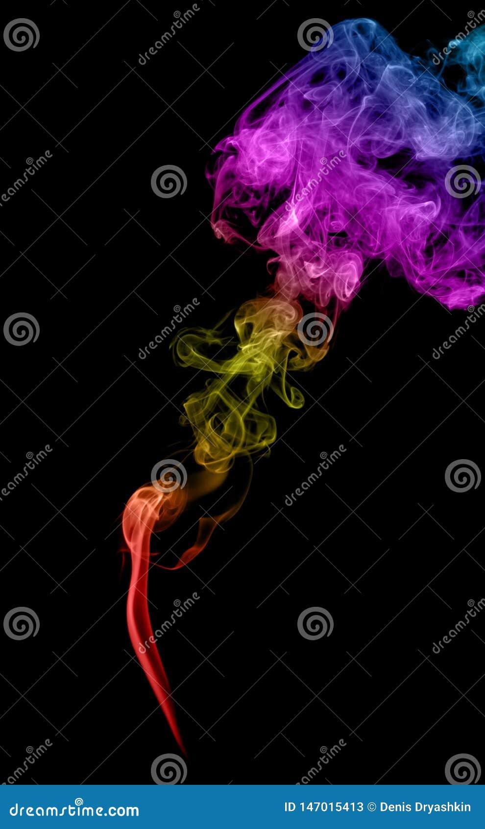 Αφηρημένος πολύχρωμος καπνός