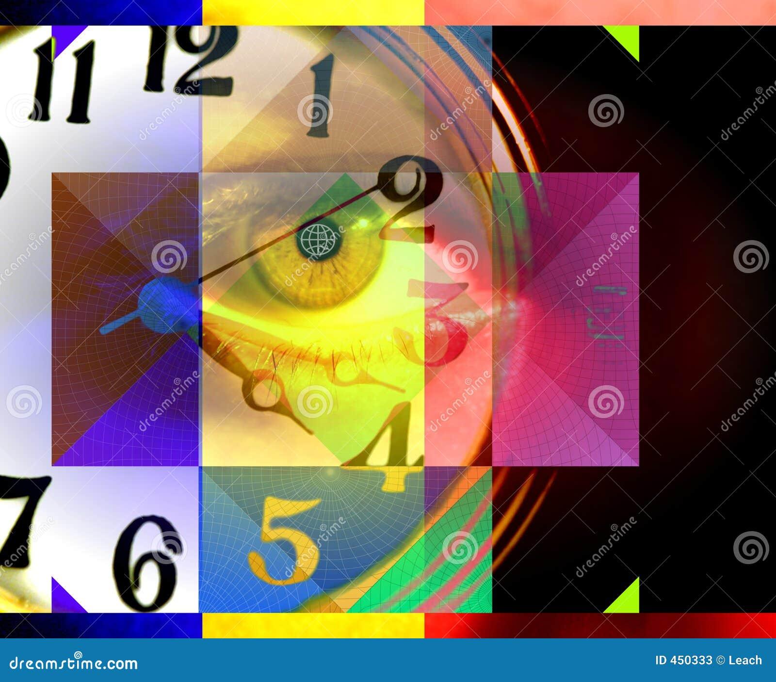 αφηρημένος χρόνος ανθρώπων έννοιας τέχνης