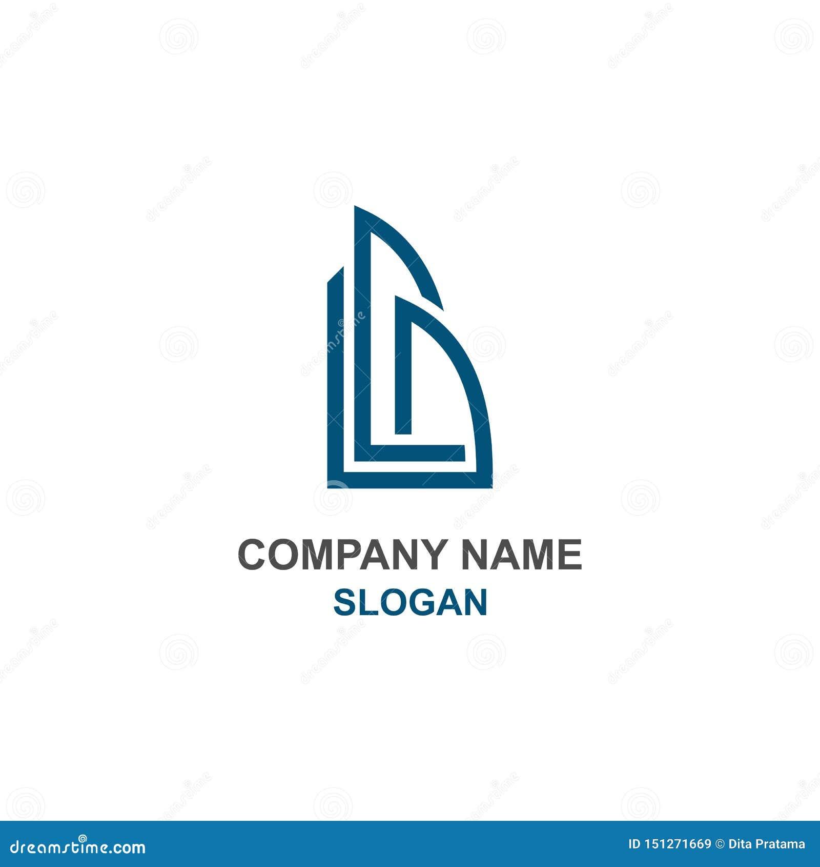 Αφηρημένος χτίστε το αρχικό λογότυπο επιστολών Β