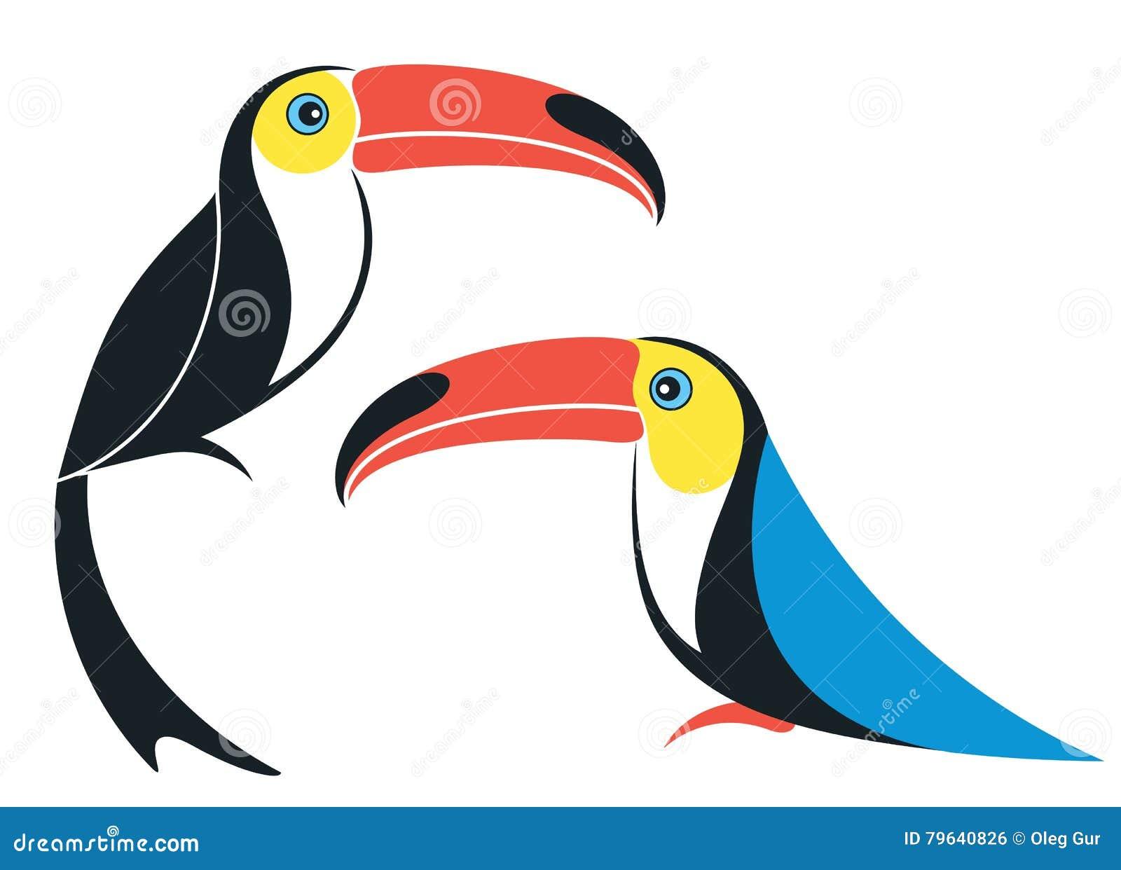 Αφηρημένος toucan cartoon