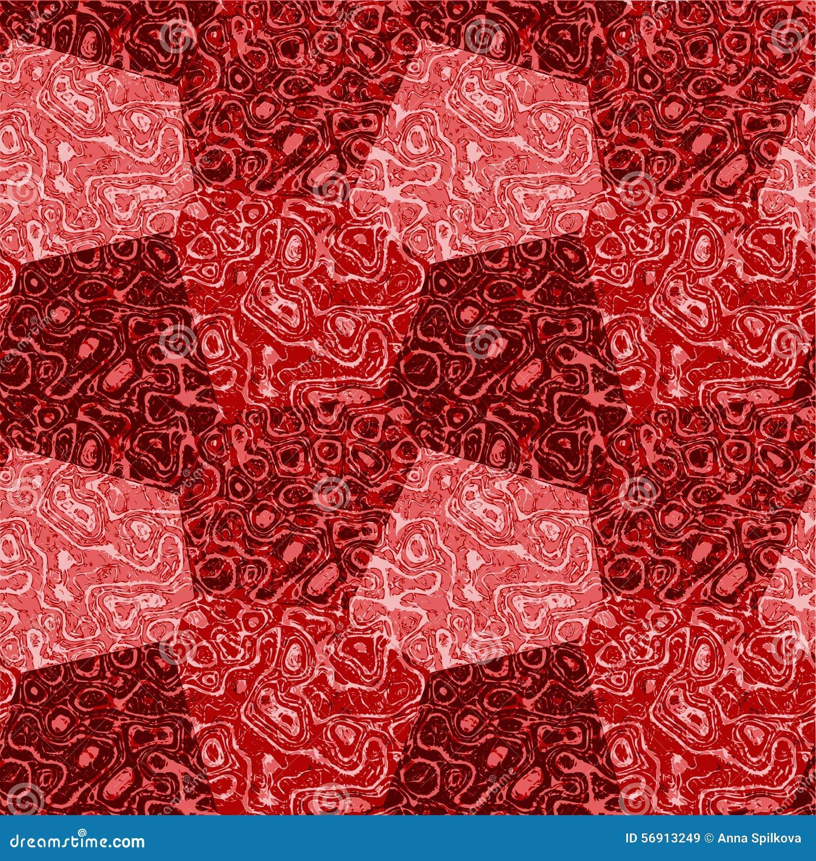 Αφηρημένο άνευ ραφής κόκκινο και ρόδινο διαστισμένο σχέδιο με τη μαρμάρινη δομή
