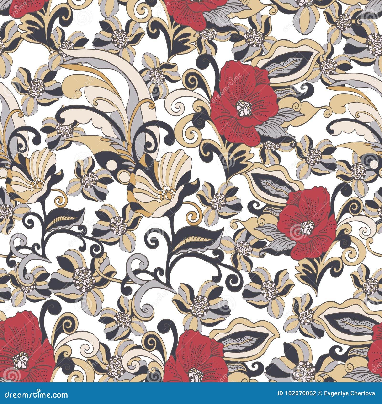 Αφηρημένο άνευ ραφής σχέδιο λουλουδιών, διανυσματικό floral υπόβαθρο