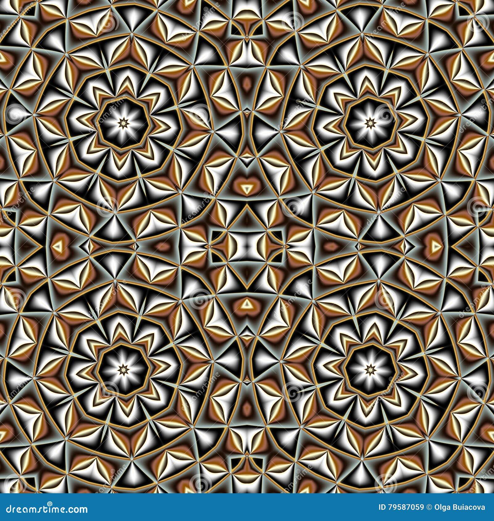 Αφηρημένο άνευ ραφής σχέδιο με τον κύκλο και τη γεωμετρική διακόσμηση
