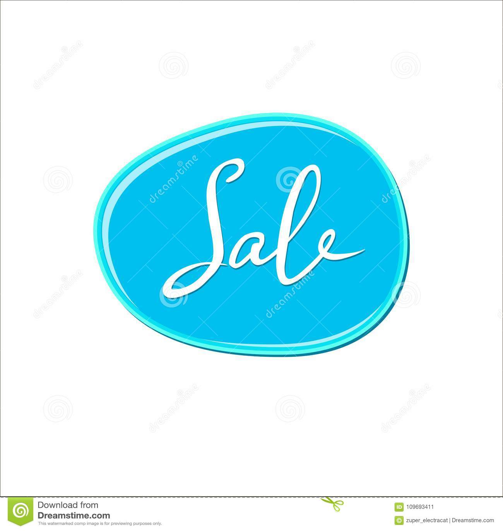 Αφηρημένο άσπρο σημάδι πώλησης πέρα από τον μπλε λεκέ γόμμας φυσαλίδων στο άσπρο υπόβαθρο Πτώση χρωμάτων χρώματος παφλασμός στιλβ