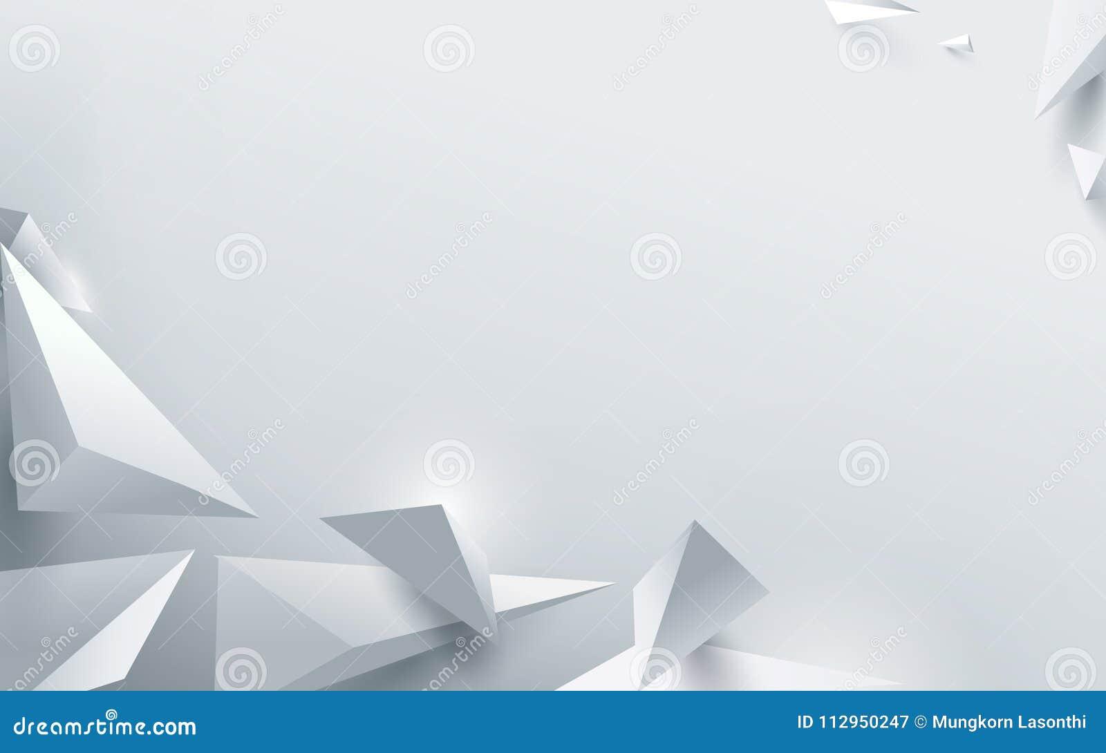 Αφηρημένο άσπρο τρισδιάστατο polygonal υπόβαθρο επίσης corel σύρετε το διάνυσμα απεικόνισης