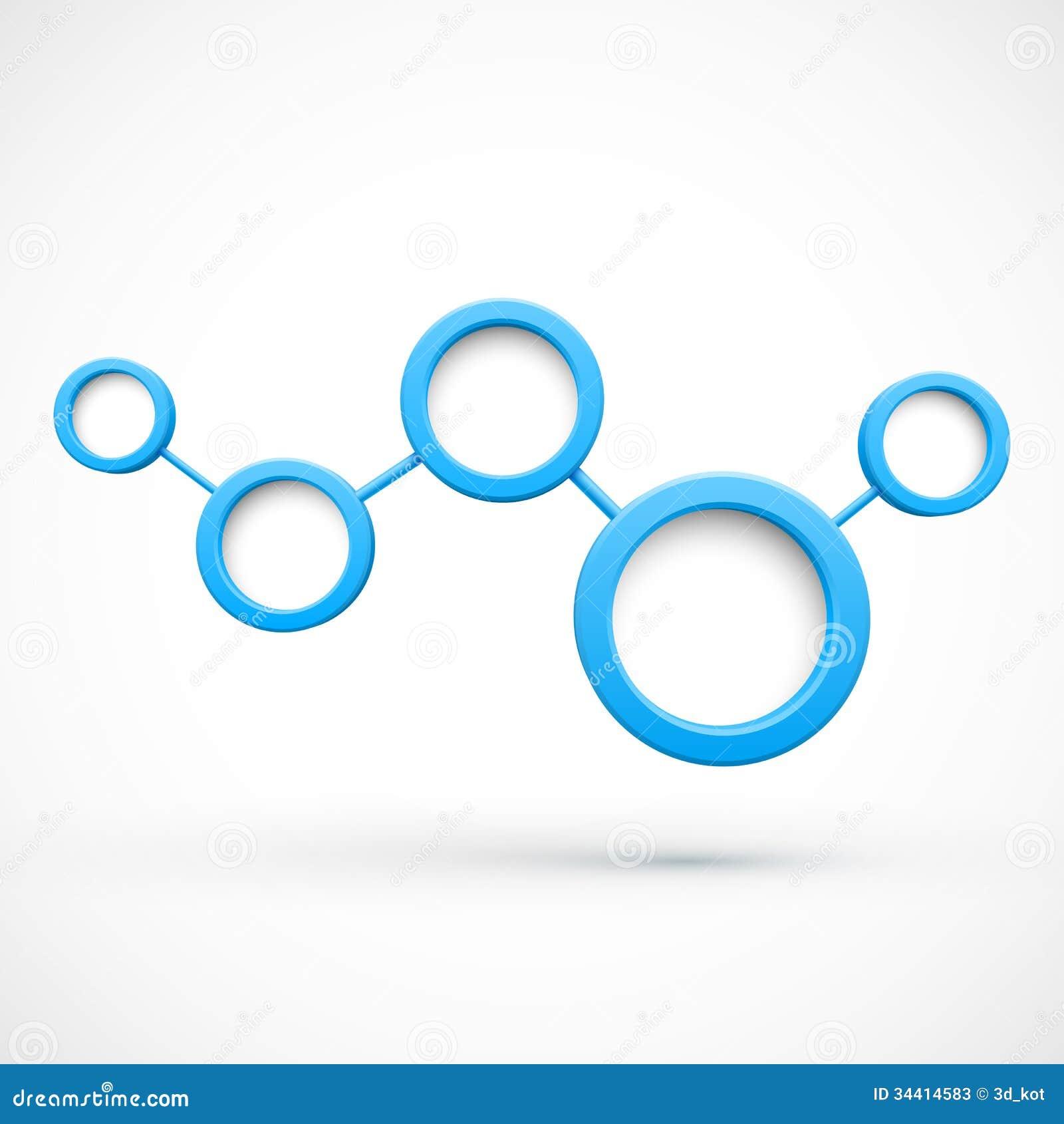 Αφηρημένο δίκτυο με τους κύκλους τρισδιάστατους