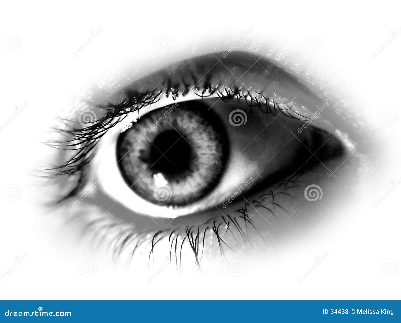 αφηρημένο αποκορεσμένο μάτι