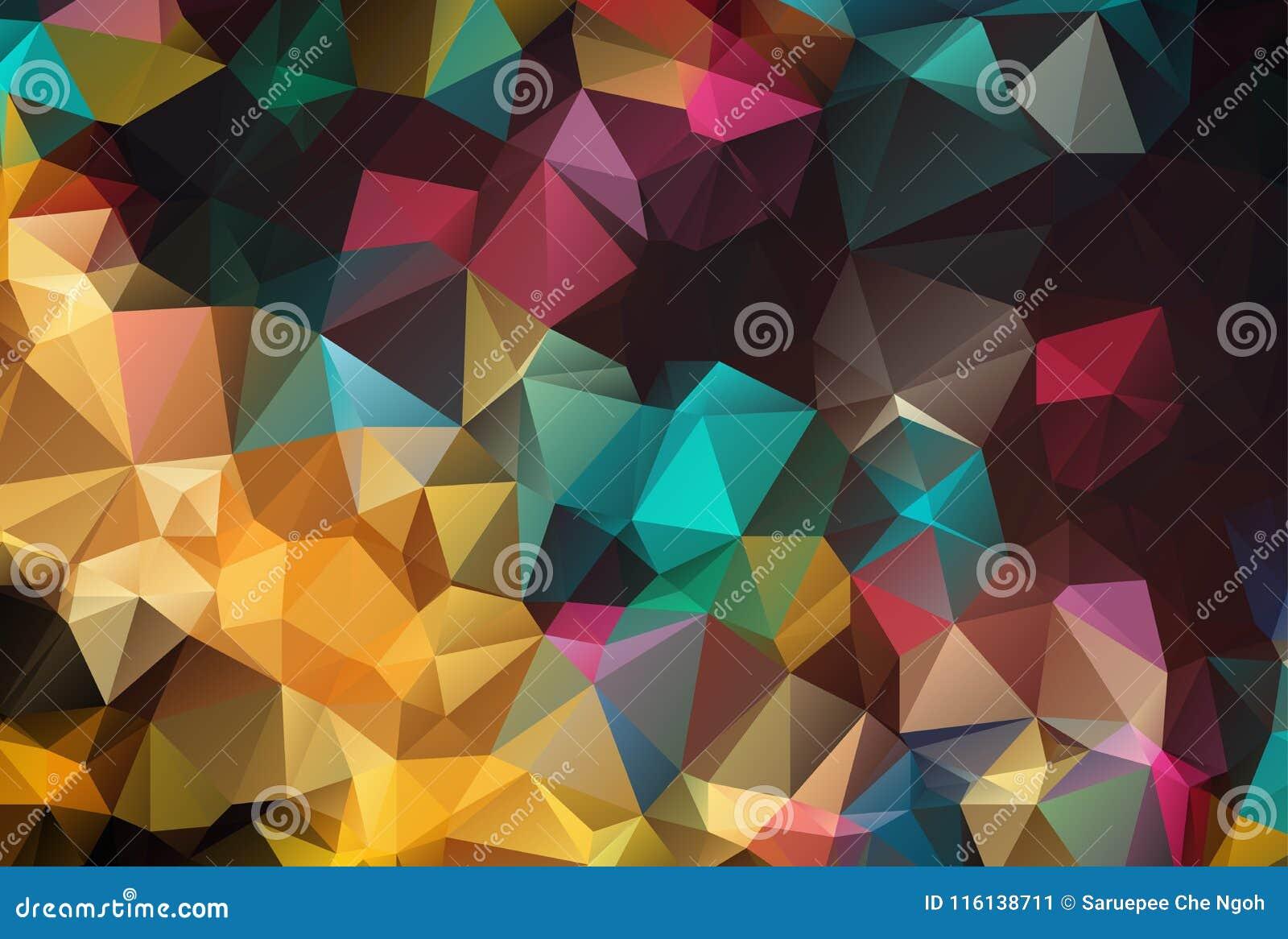Αφηρημένο γεωμετρικό υπόβαθρο με τα πολύγωνα Σύνθεση γραφικής παράστασης πληροφοριών με τις γεωμετρικές μορφές Αναδρομικό σχέδιο