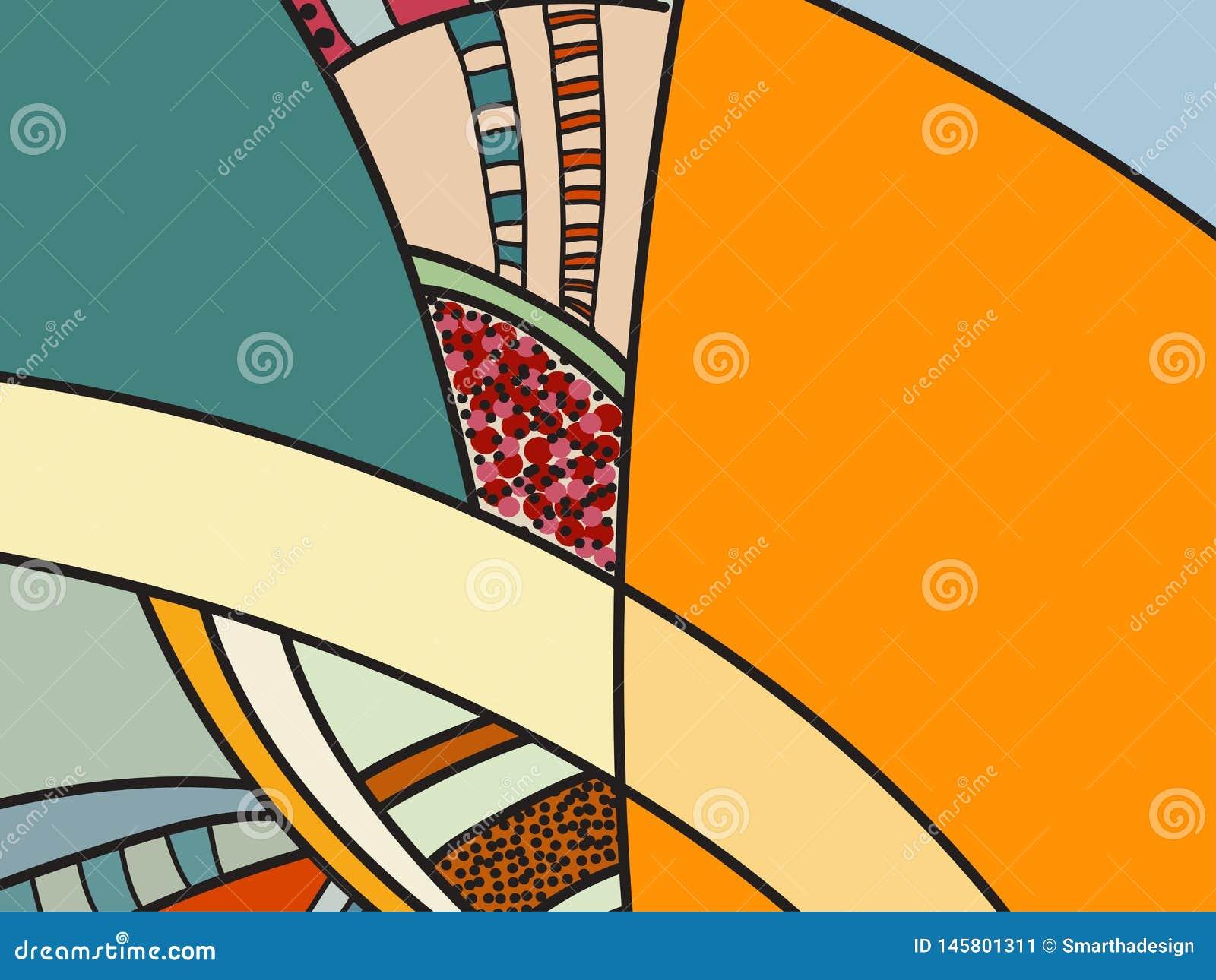 Αφηρημένο διανυσματικό σχέδιο, γραπτά doodles Υπόβαθρο για την αφίσα, κάρτα, σκηνικό Απεικόνιση με τις αφηρημένες μορφές