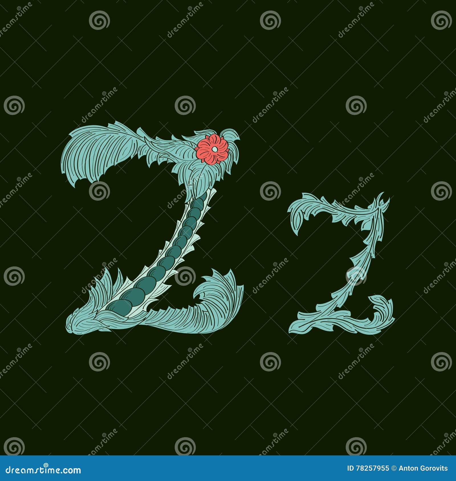 Αφηρημένο εικονίδιο λογότυπων γραμμάτων Ζ στο μπλε τροπικό ύφος