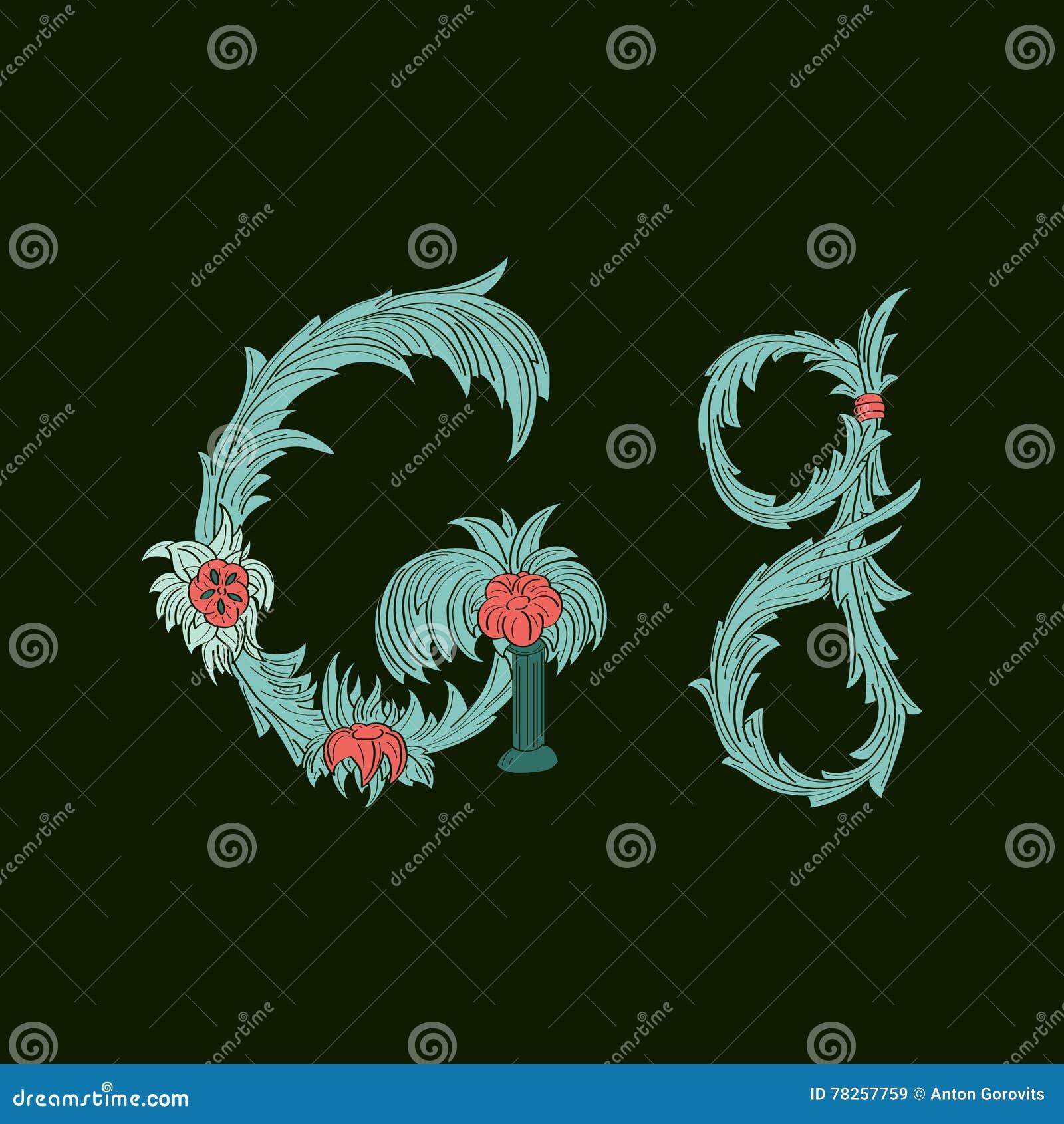 Αφηρημένο εικονίδιο λογότυπων Γ επιστολών στο μπλε τροπικό ύφος
