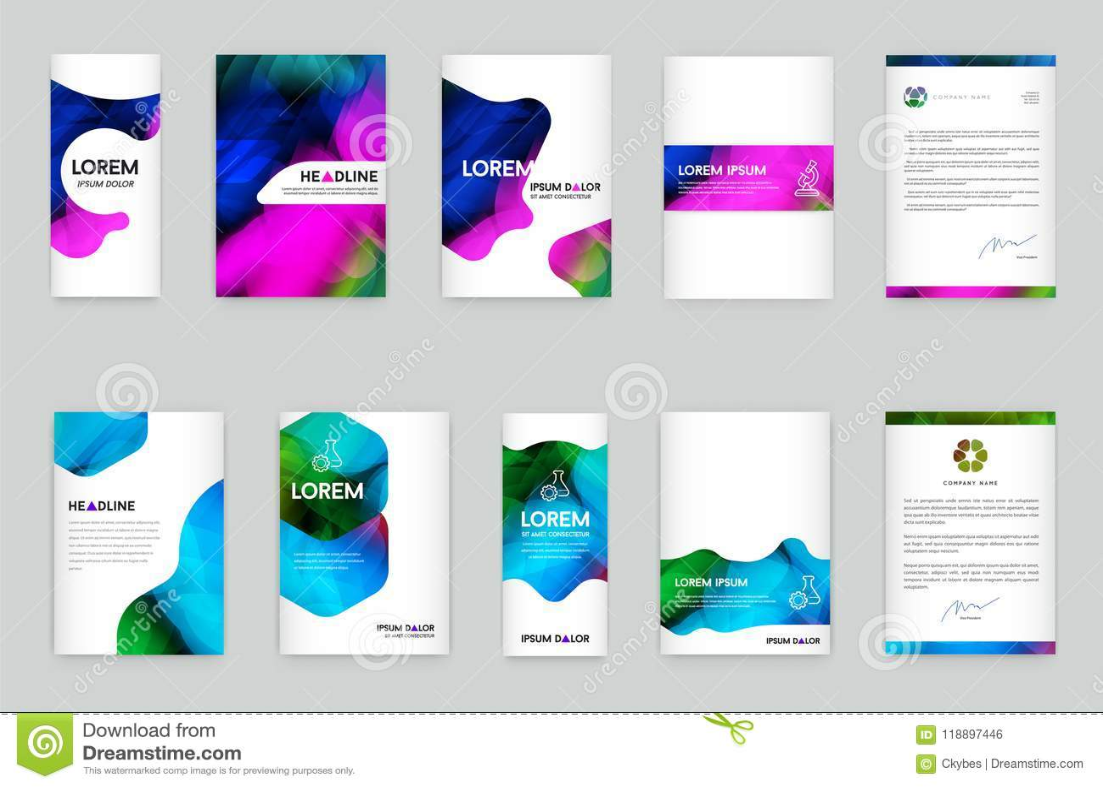 Αφηρημένο ζωηρόχρωμο υγρό και ρευστό σχέδιο κάλυψης Ελάχιστη γεωμετρική αφίσα Κλίσεις σχεδίων backgrounder διάνυσμα