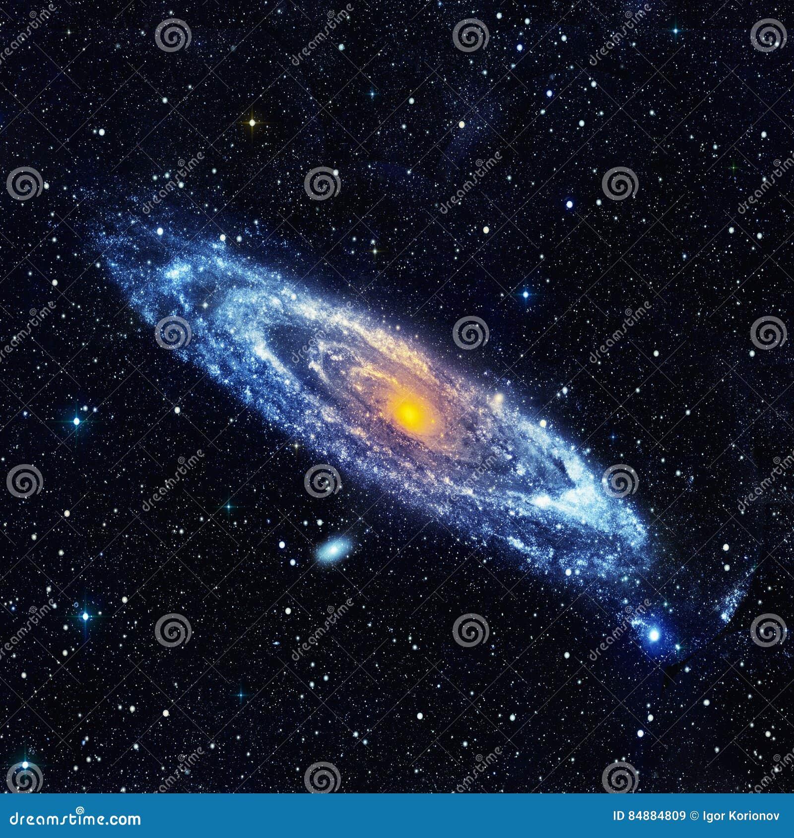 Αφηρημένο διαστημικό τοπίο με έναν σπειροειδή γαλαξία