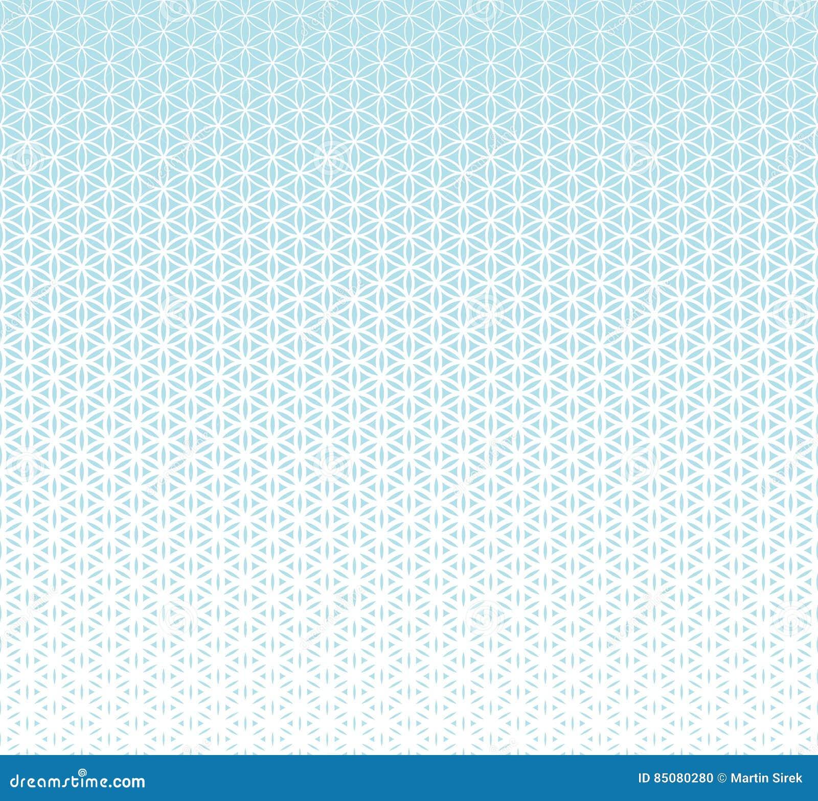 Αφηρημένο ιερό λουλούδι κλίσης γεωμετρίας μπλε του ημίτονύ σχεδίου ζωής