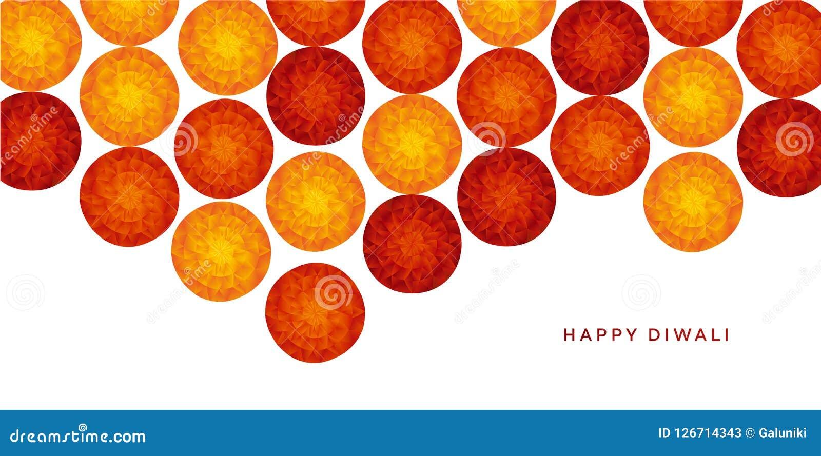 Αφηρημένο ινδικό floral σχέδιο για το φεστιβάλ diwali
