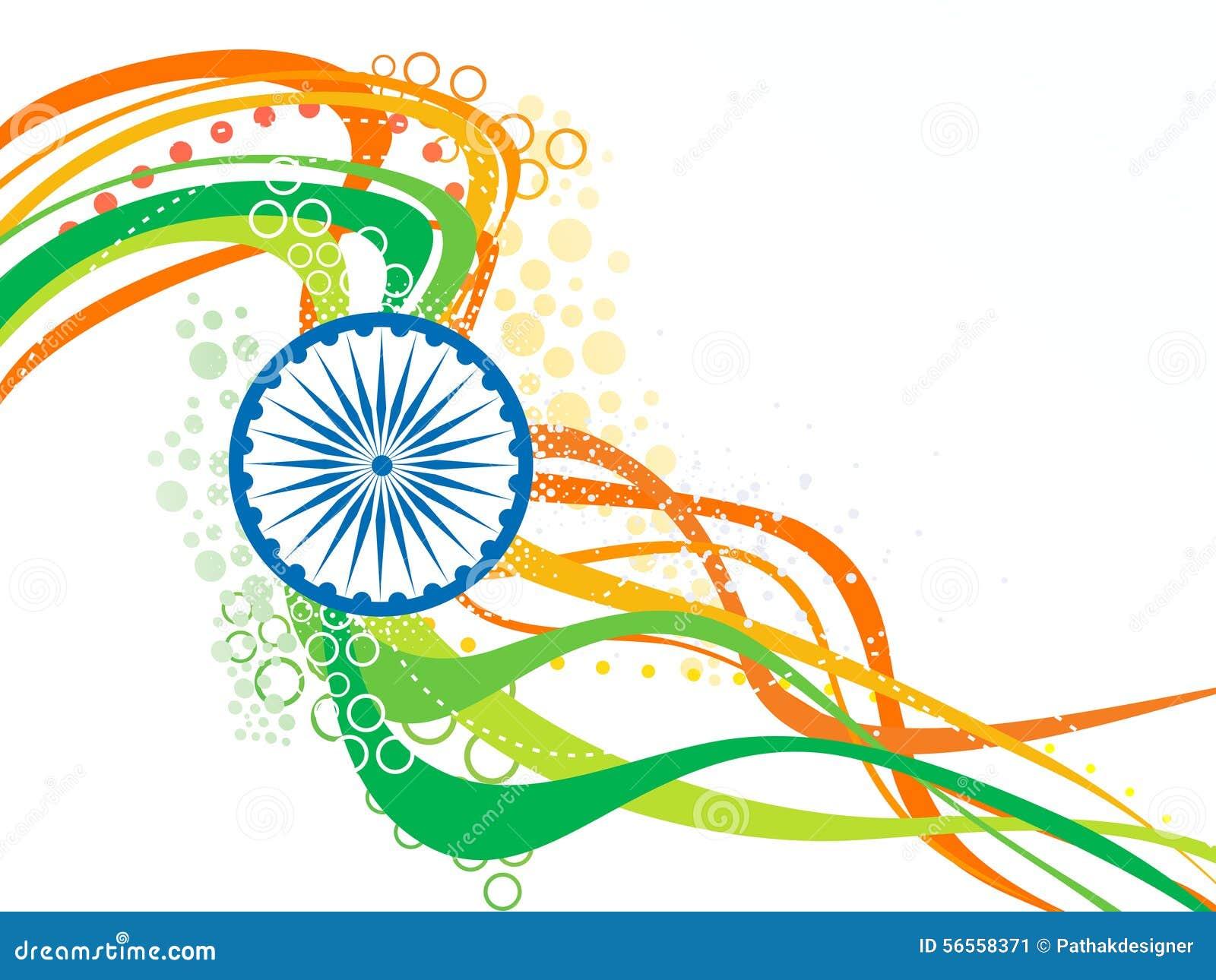 Download Αφηρημένο καλλιτεχνικό ινδικό κύμα σημαιών Διανυσματική απεικόνιση - εικονογραφία από σαφράνι, κυβέρνηση: 56558371