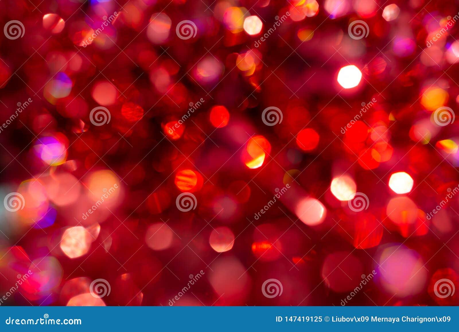 Αφηρημένο κόκκινο υπόβαθρο Χριστουγέννων Defocused Ευτυχής Χαρούμενα Χριστούγεννα και νέο έτος