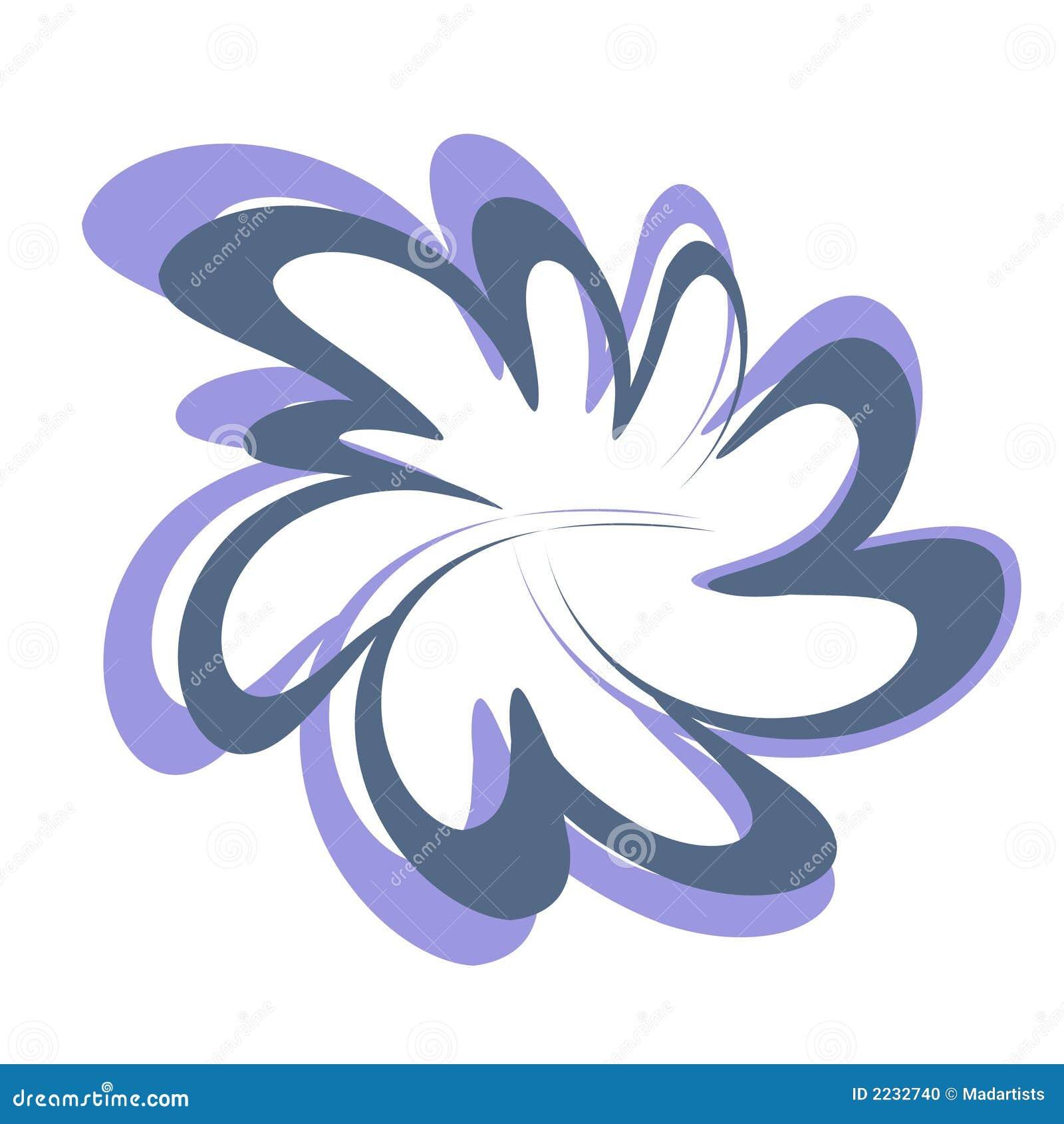 αφηρημένο λουλούδι σχε&delt