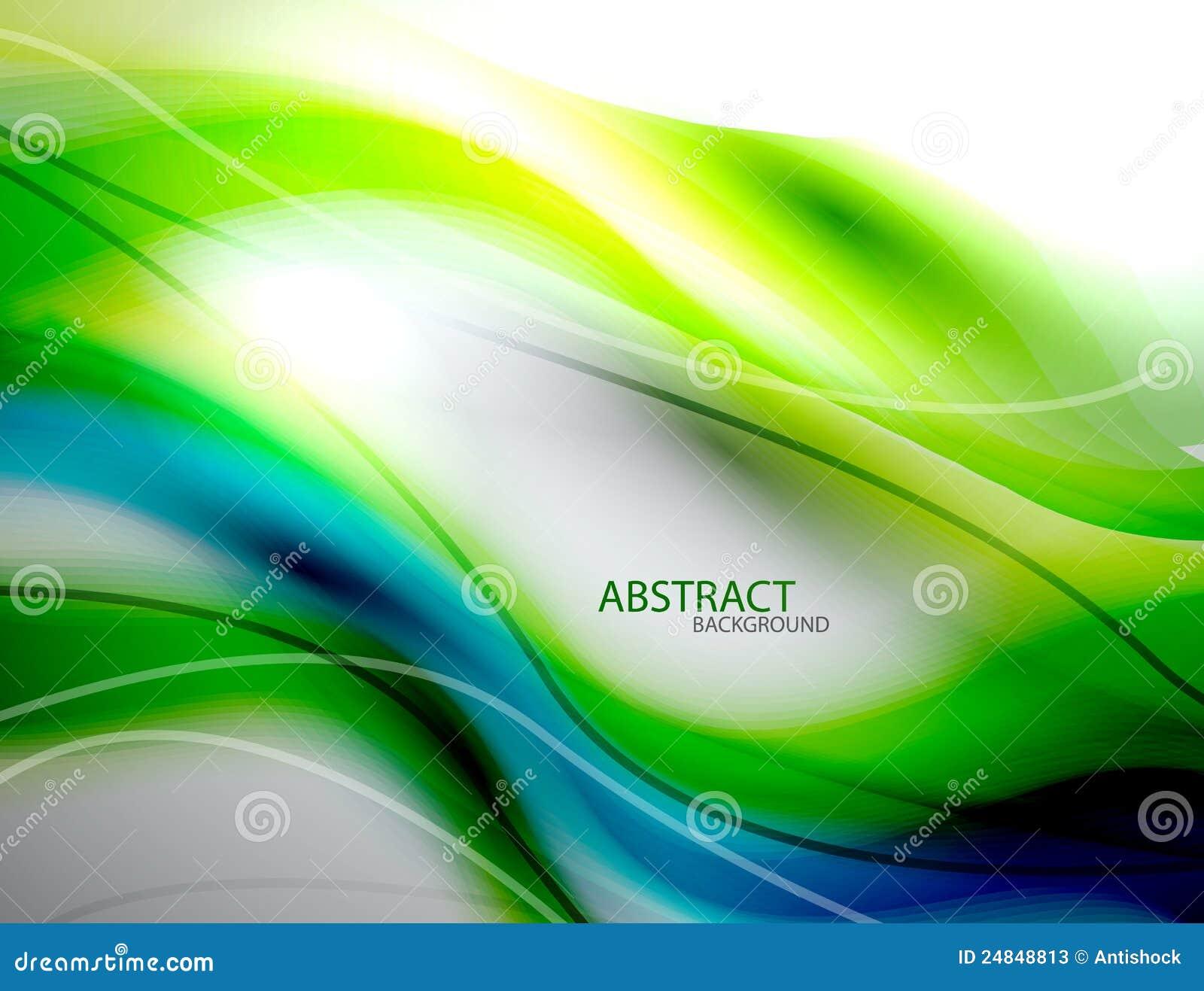 αφηρημένο μπλε θολωμένο πράσινο κύμα ανασκόπησης
