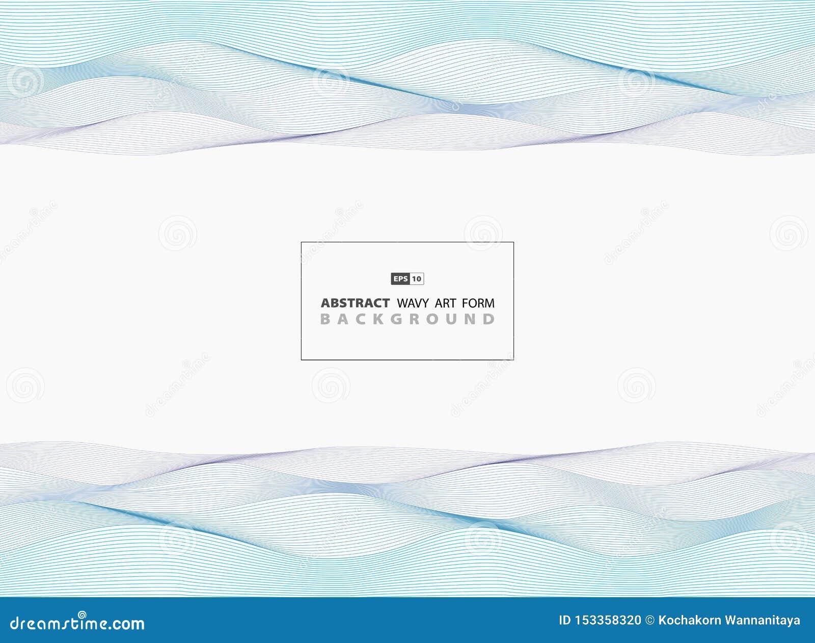 Αφηρημένο μπλε κυματιστό υπόβαθρο γραμμών σχεδίου σχεδίων θάλασσας r