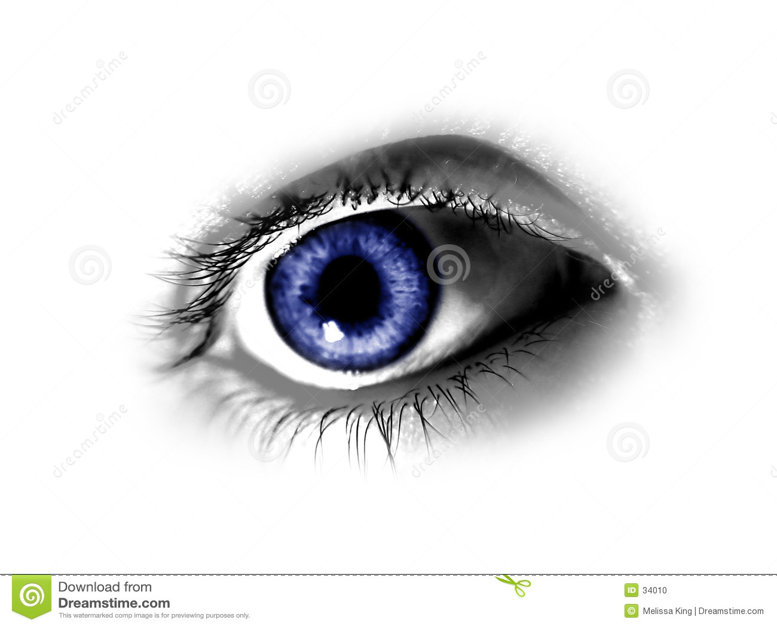 αφηρημένο μπλε μάτι