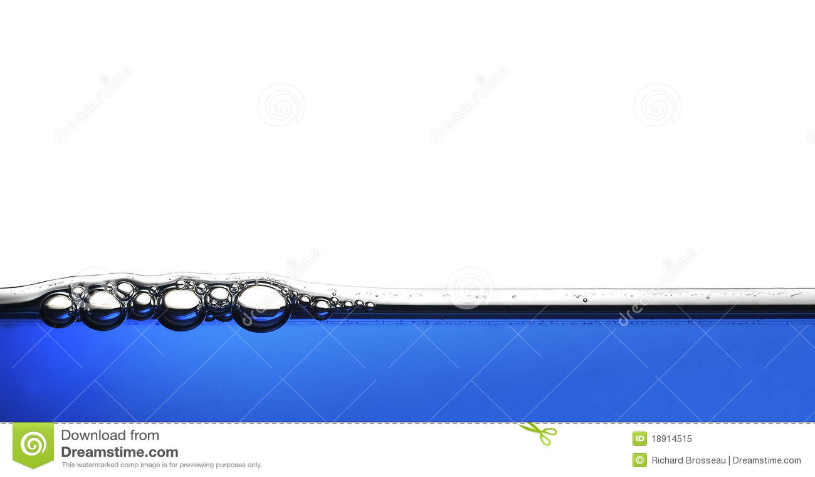αφηρημένο μπλε ύδωρ φυσαλί